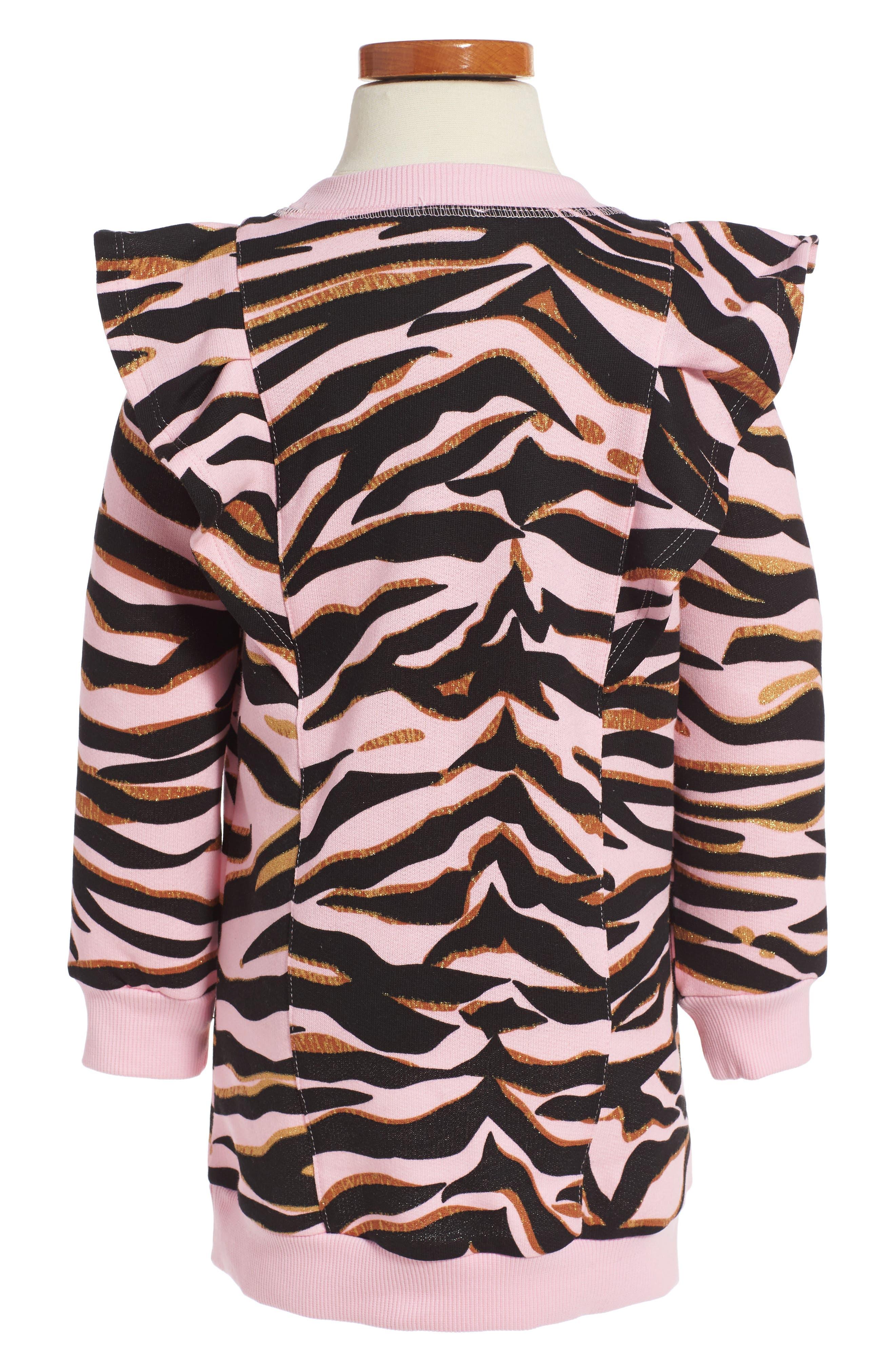 Tiger Sweatshirt Dress,                             Alternate thumbnail 2, color,                             Old Pink