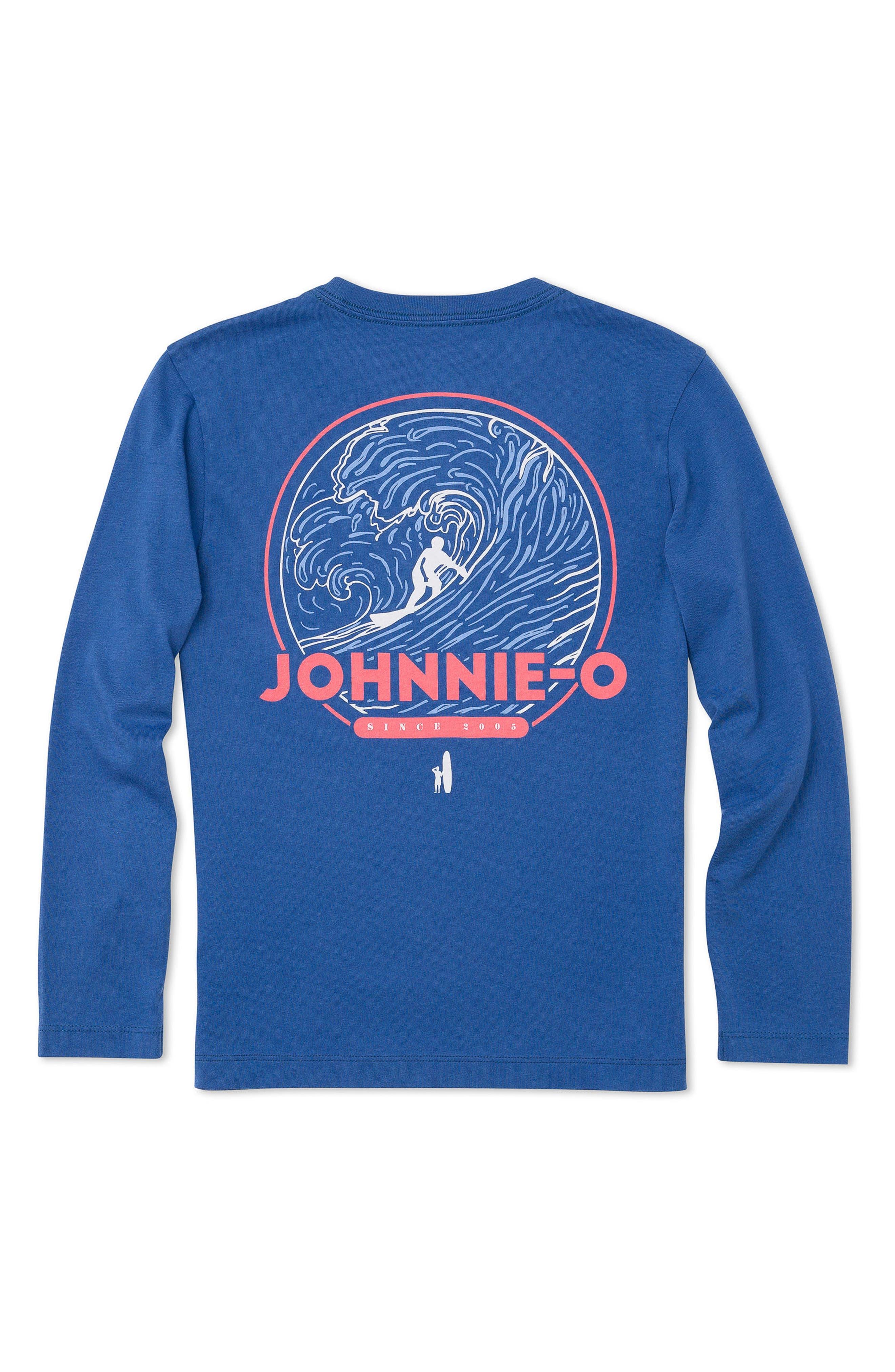 Alternate Image 2  - johnnie-O Reef Break Long-Sleeve Pocket T-Shirt (Little Boys & Big Boys)