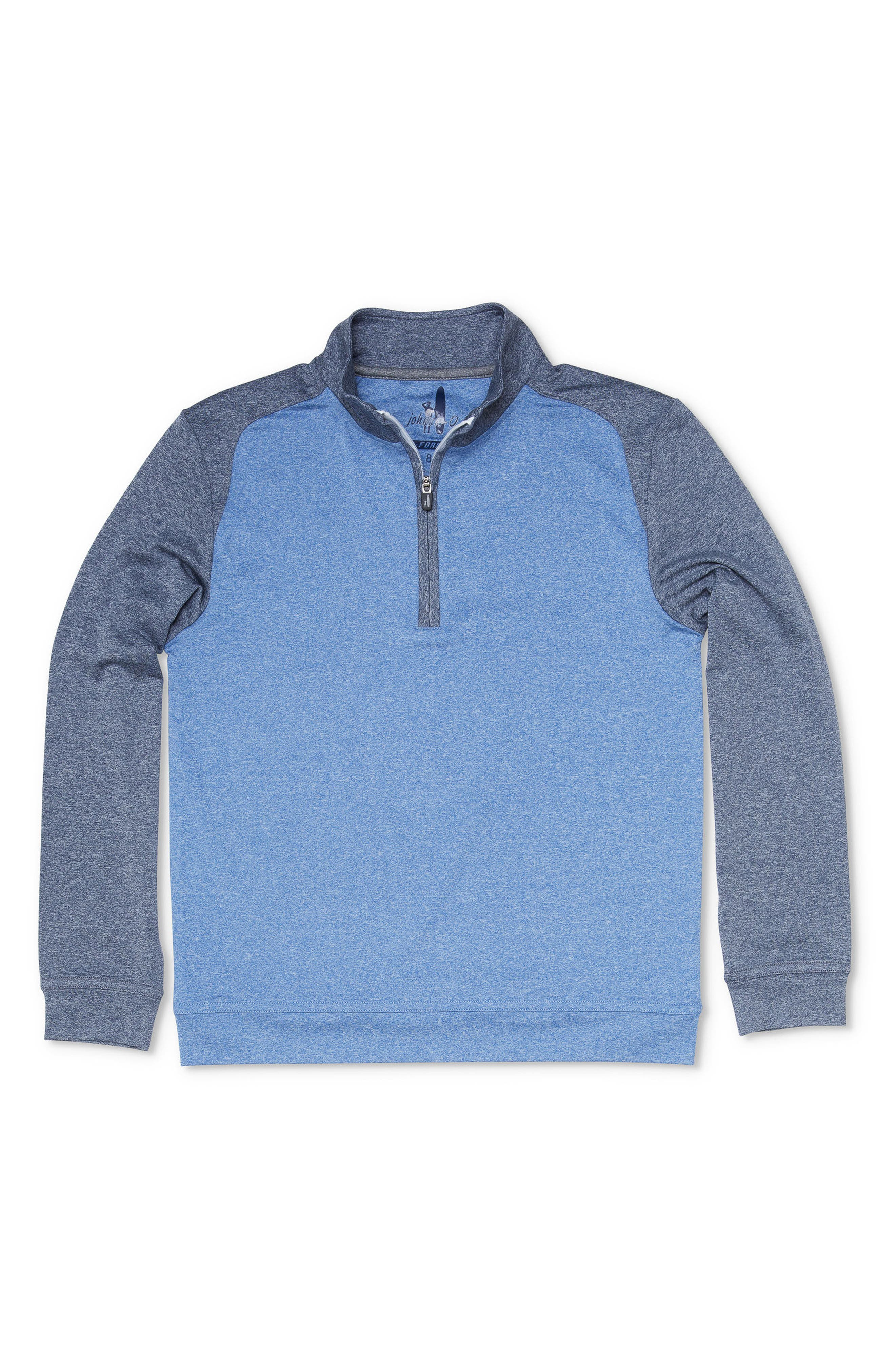 Sway Quarter Zip Pullover,                             Main thumbnail 1, color,                             Abyss