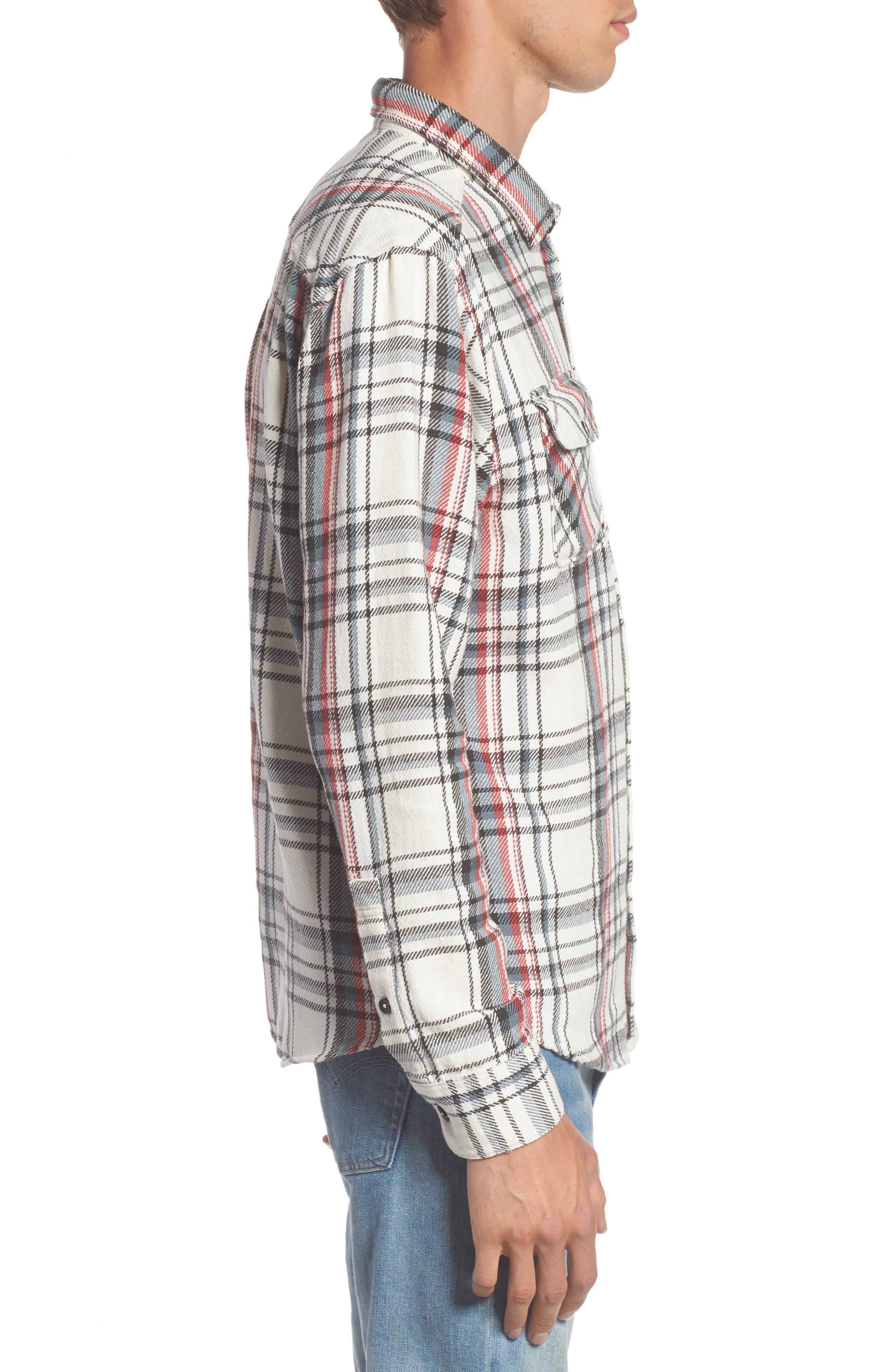Alternate Image 3  - RVCA Camino Plaid Flannel Shirt
