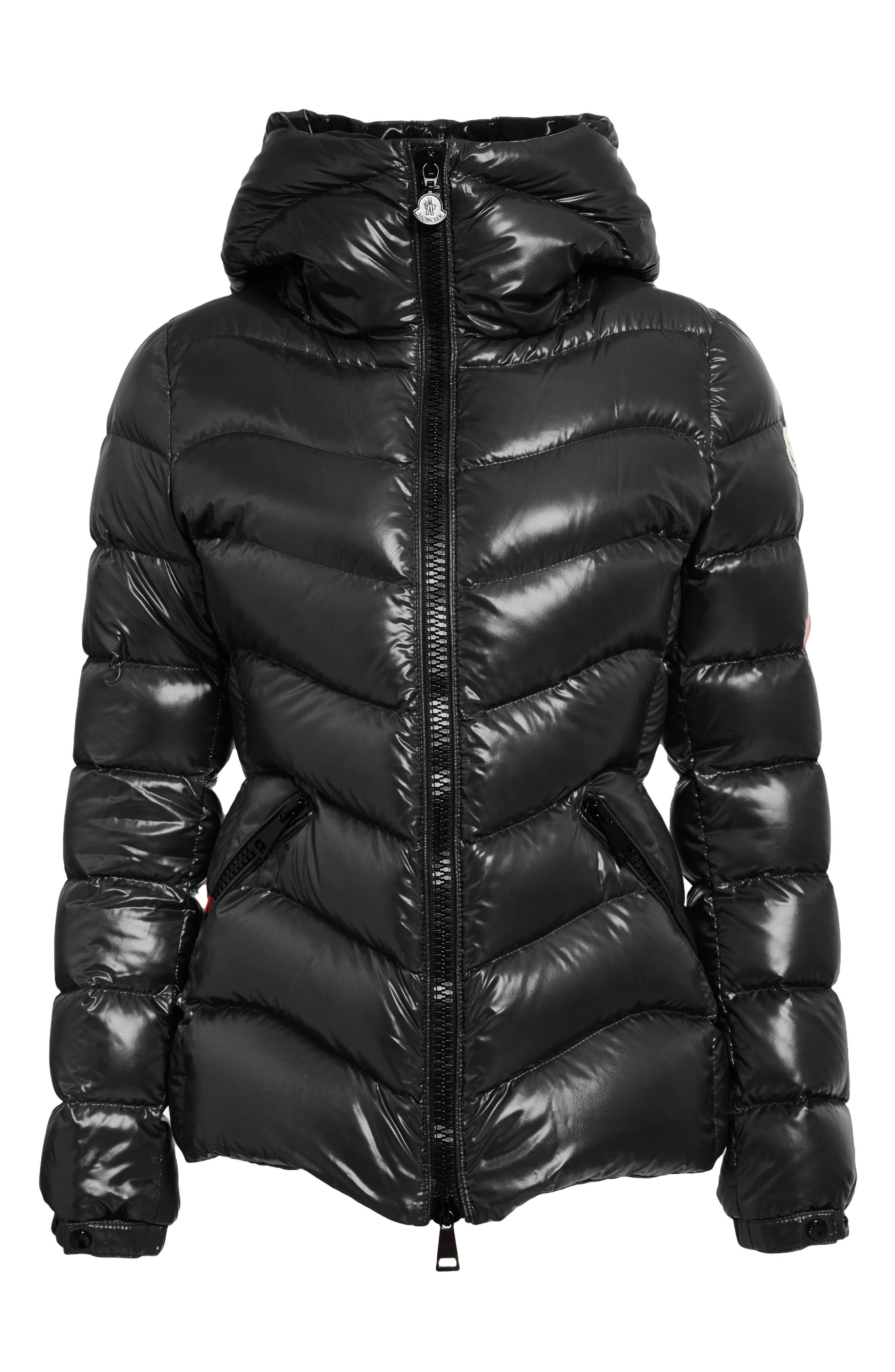 Alternate Image 4  - Moncler Anthia Water Resistant Shiny Nylon Hooded Down Puffer Jacket