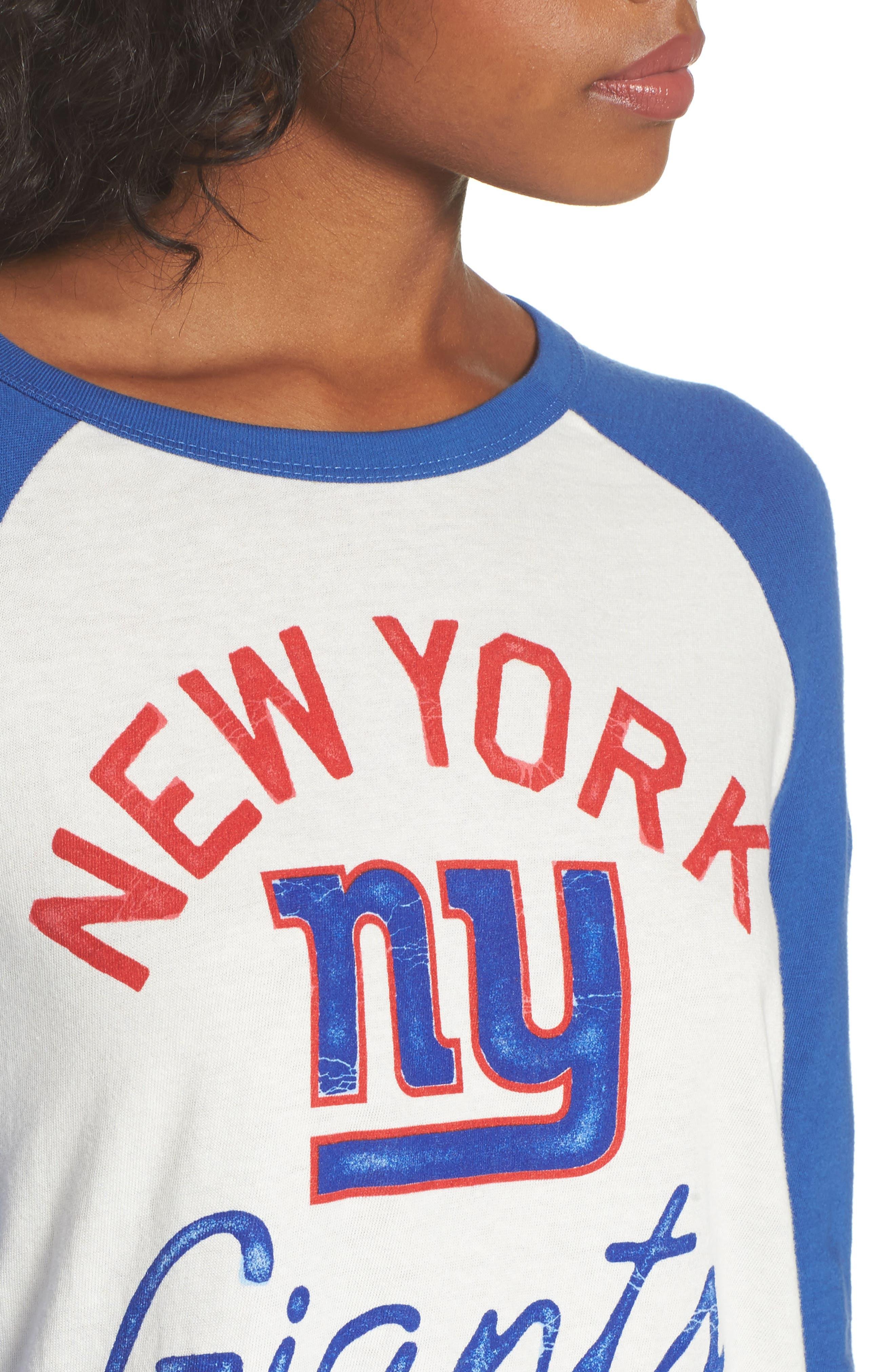 NFL New York Giants Raglan Tee,                             Alternate thumbnail 4, color,                             Sugar/ Liberty