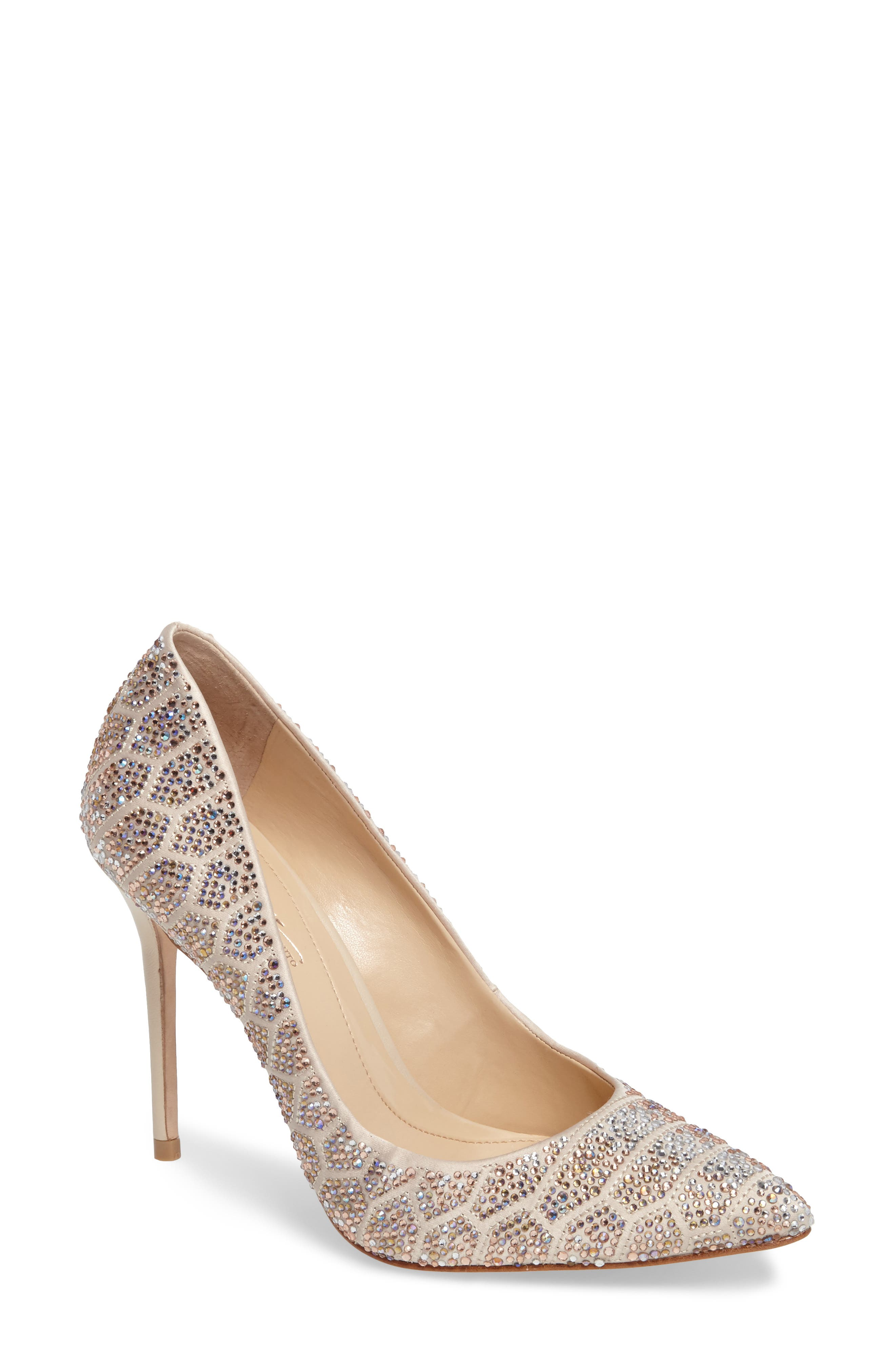 Imagine Vince Camuto 'Olivier' Pointy Toe Pump,                             Main thumbnail 1, color,                             Light Sand