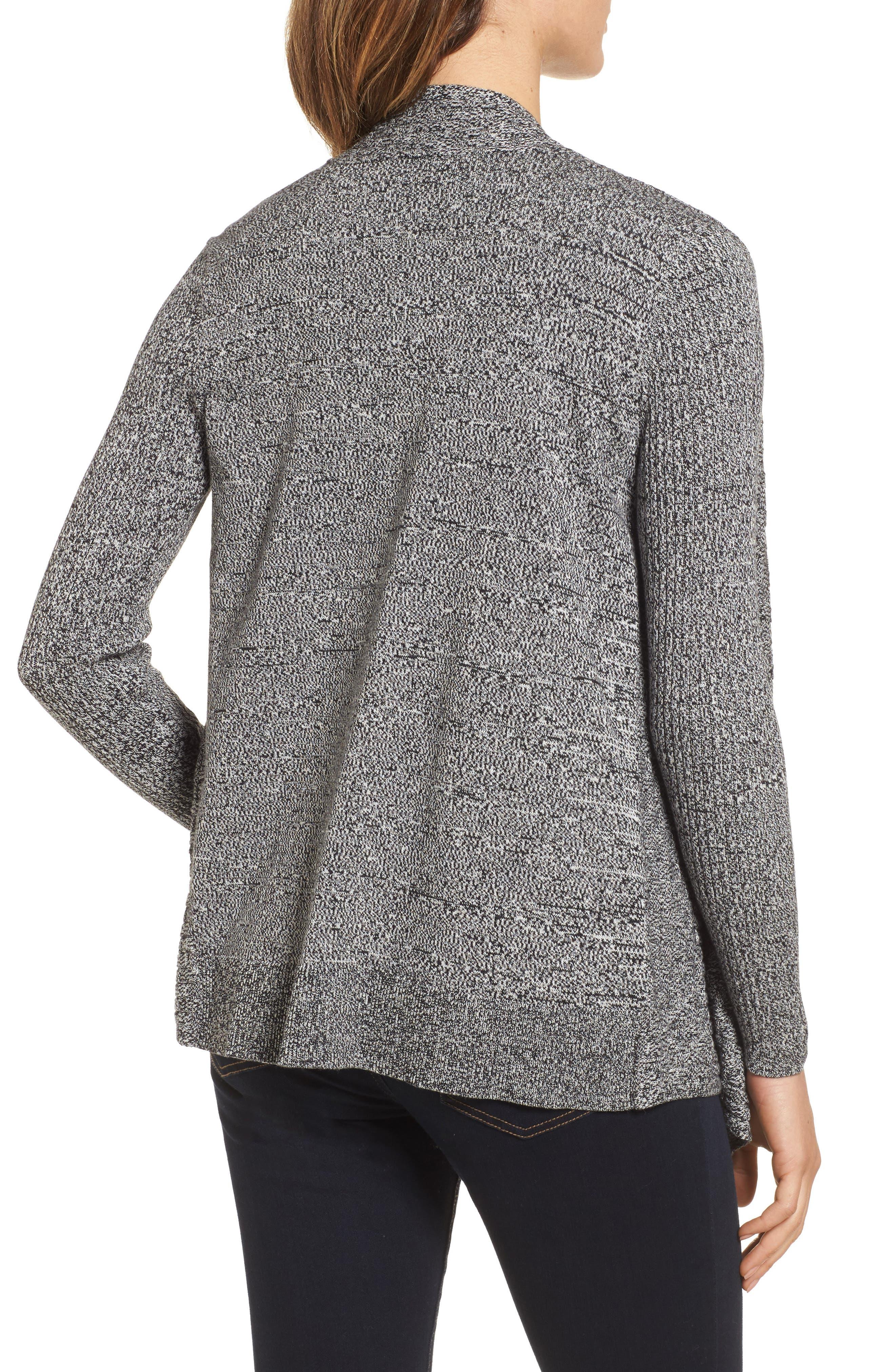 Alternate Image 2  - Chaus Mixed Cotton Knit Cardigan