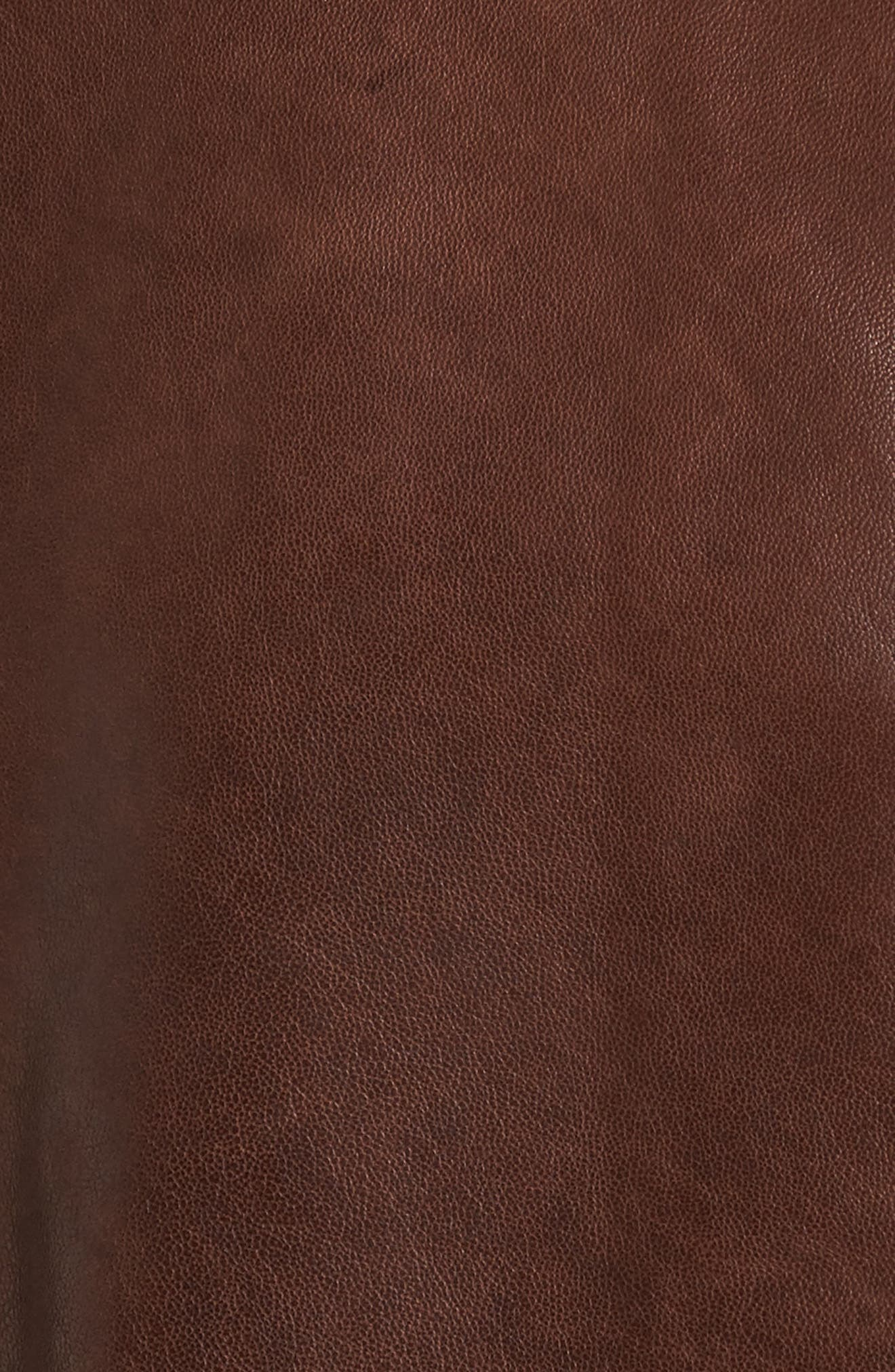 Leather Panel Nylon Jacket,                             Alternate thumbnail 5, color,                             Brown