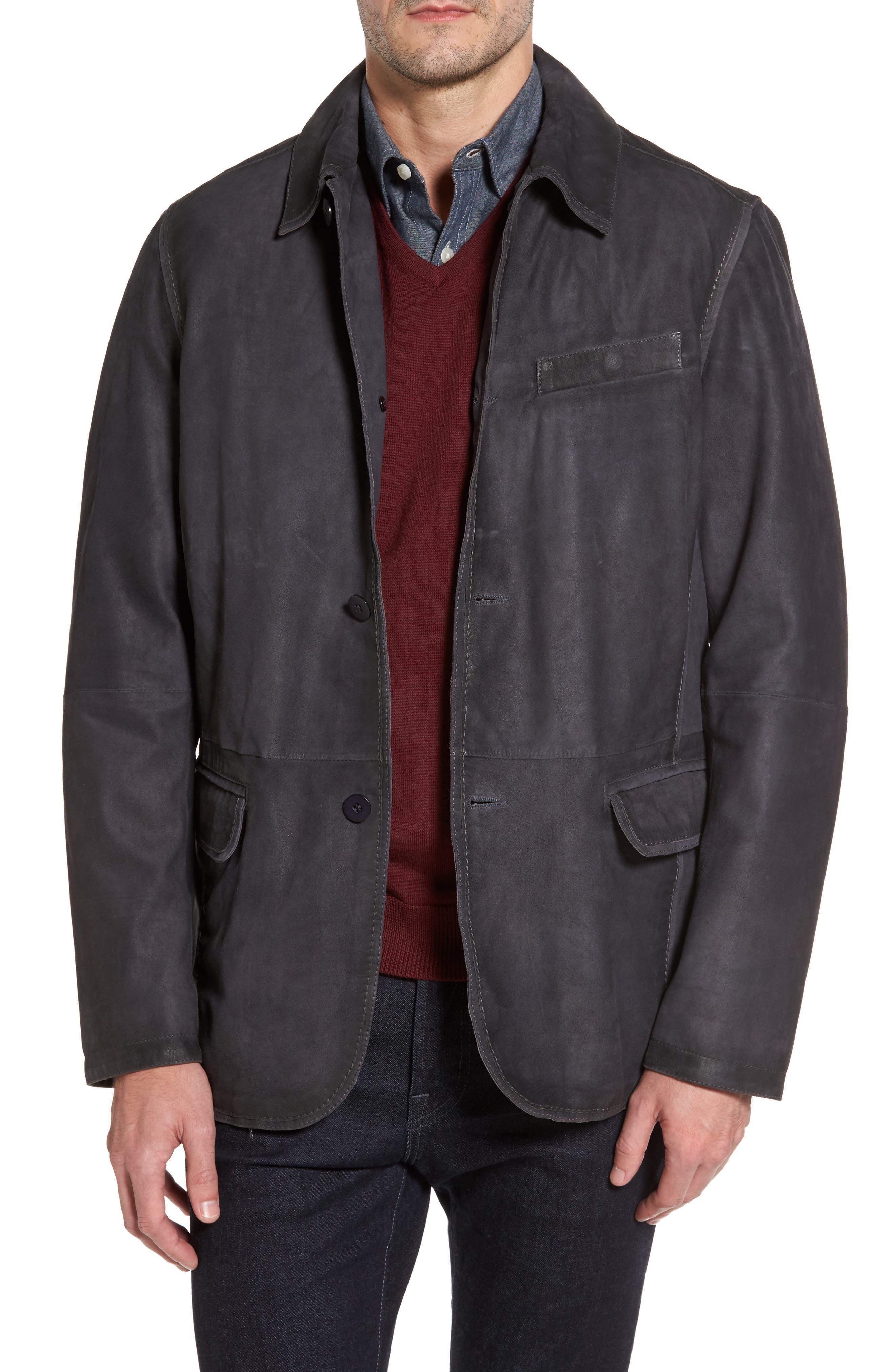 Missani Le Collezioni Burnished Leather Jacket