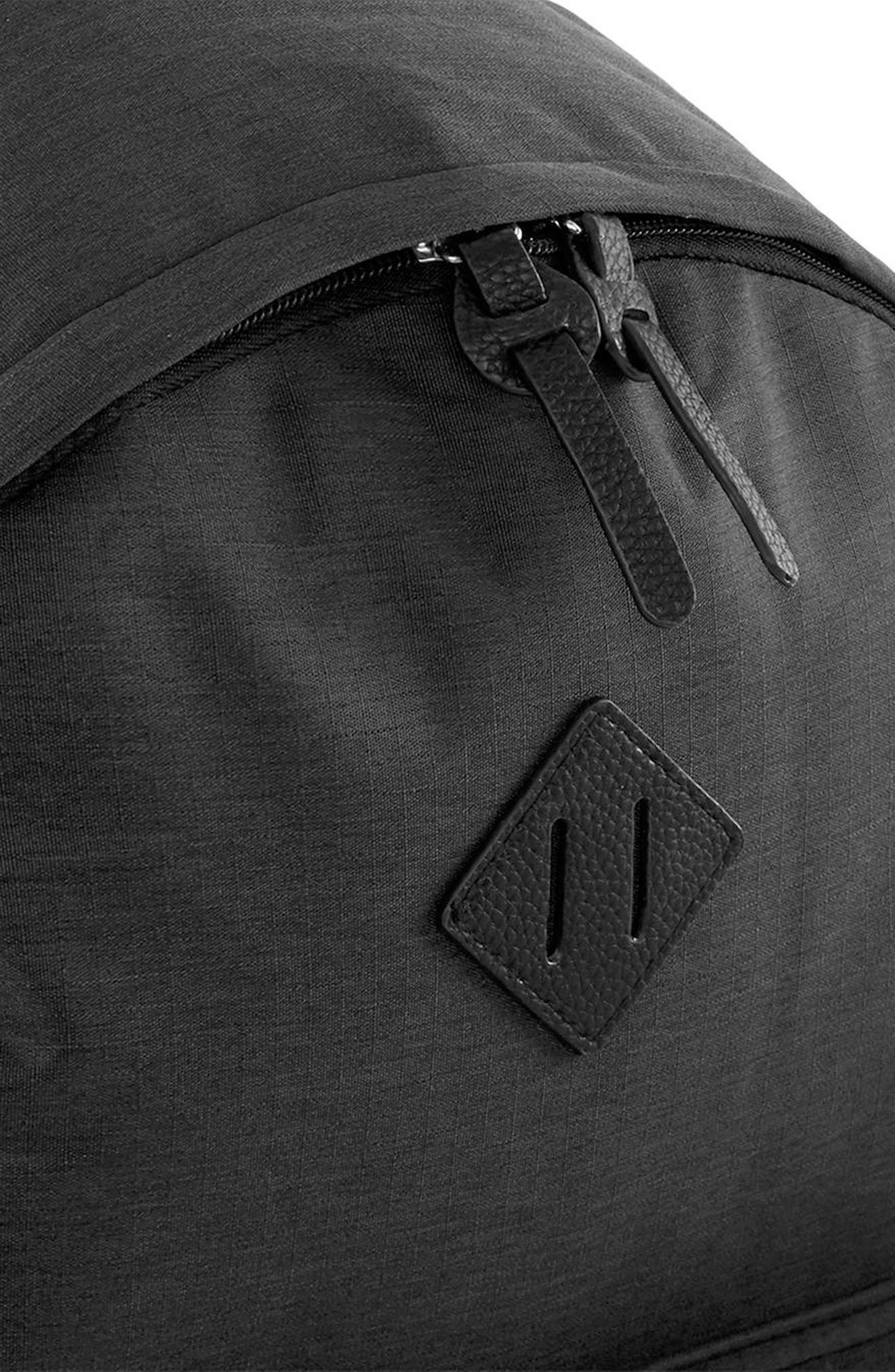 Ripstop Backpack,                             Alternate thumbnail 3, color,                             Black