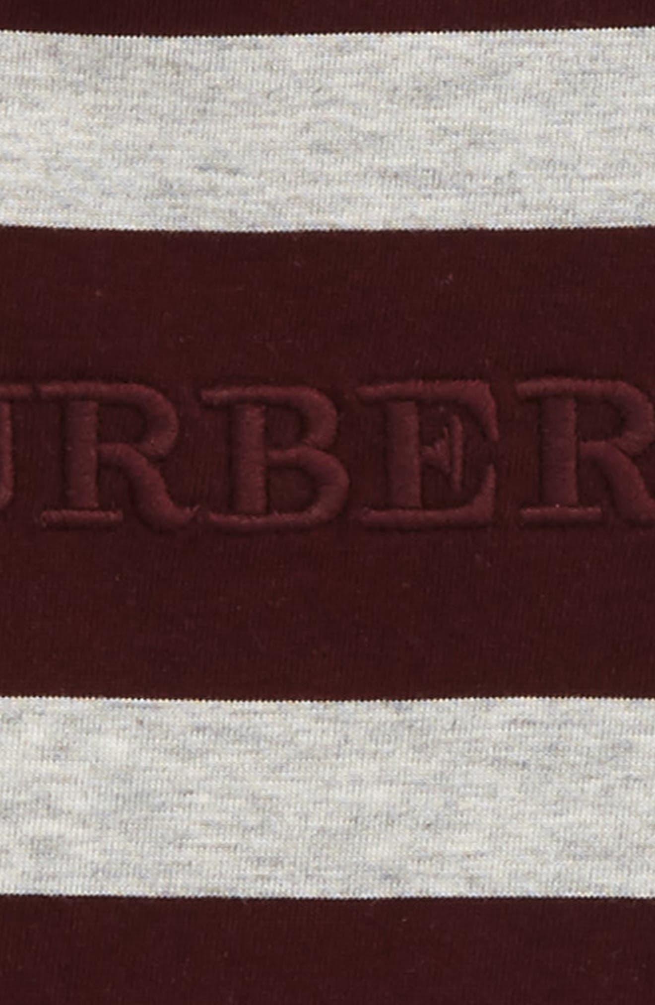 Mathew Stripe T-Shirt,                             Alternate thumbnail 2, color,                             Burgundy/ Grey Melange