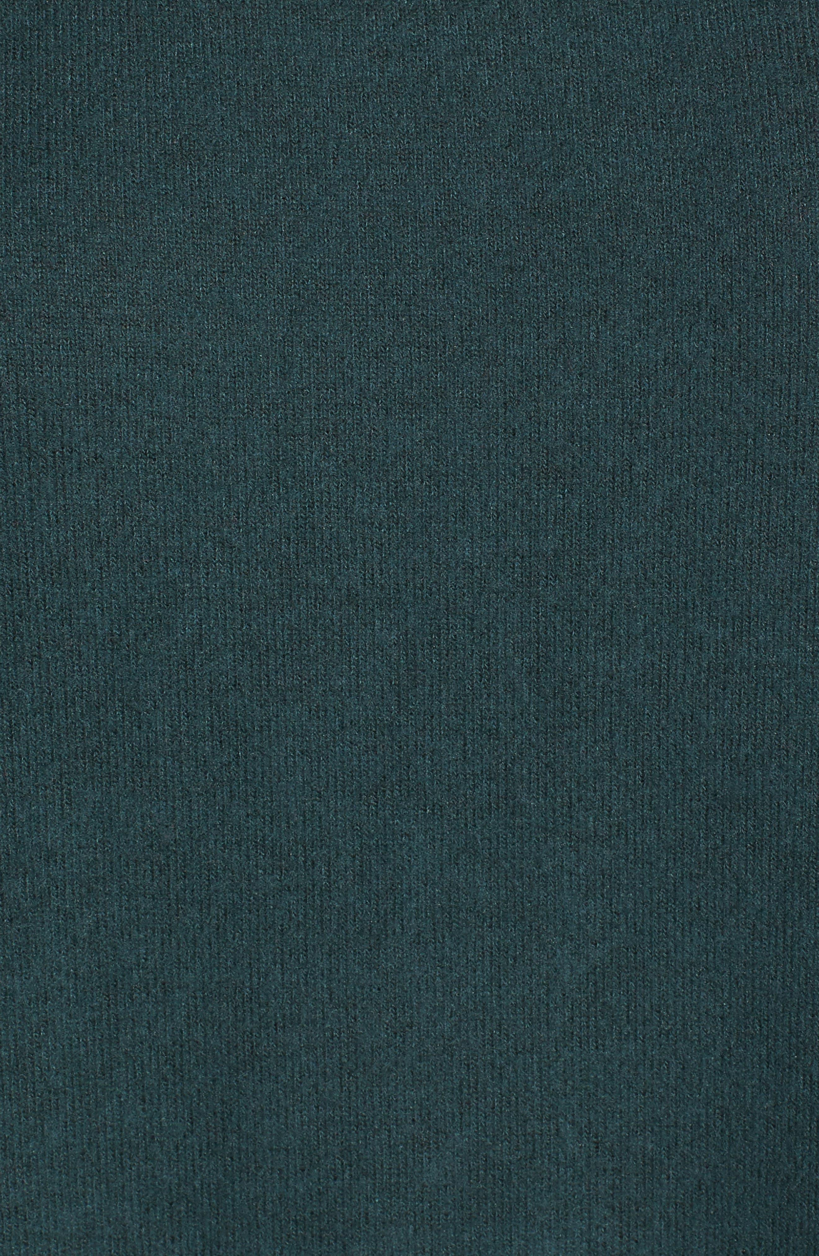 Cozy Ballet Neck High/Low Pullover,                             Alternate thumbnail 5, color,                             Green Gables
