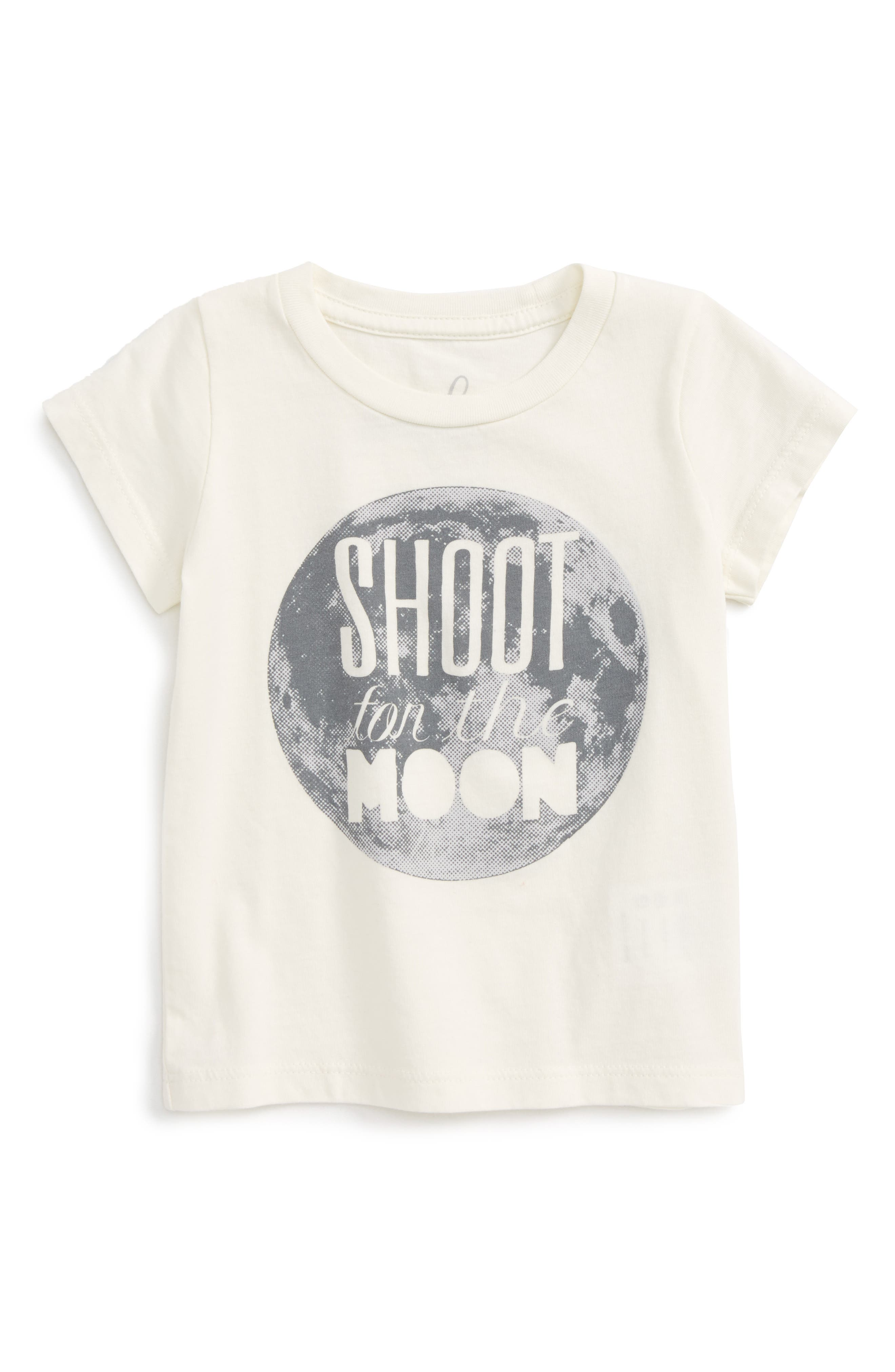 Main Image - Peek Shoot For The Moon Graphic T-Shirt (Baby Boys)