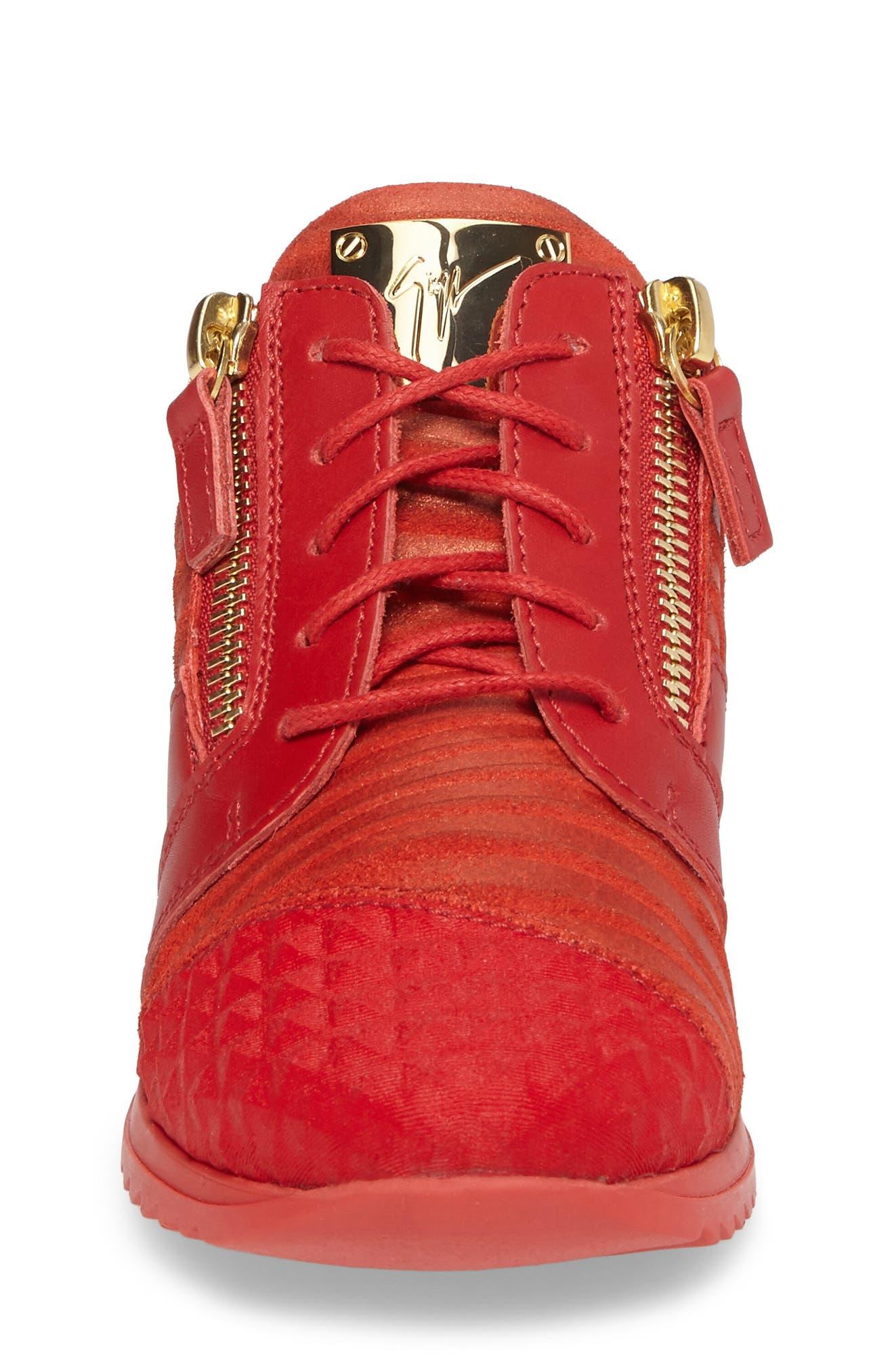 Alternate Image 4  - Giuseppe Zanotti Iperstud Embossed Sneaker (Baby, Walker, Toddler & Little Kid)