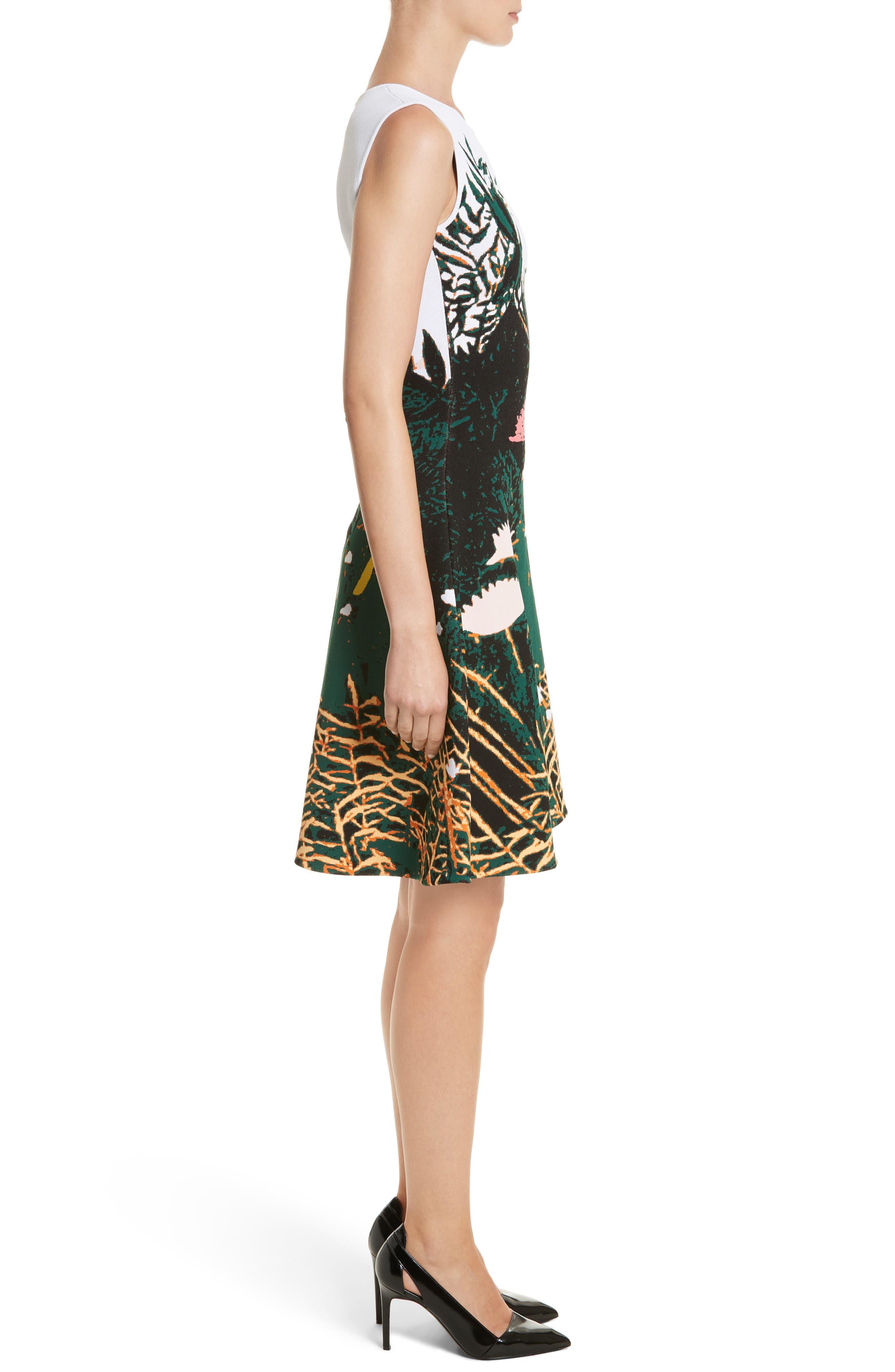 Sunset Intarsia Knit Dress,                             Alternate thumbnail 3, color,                             Multi