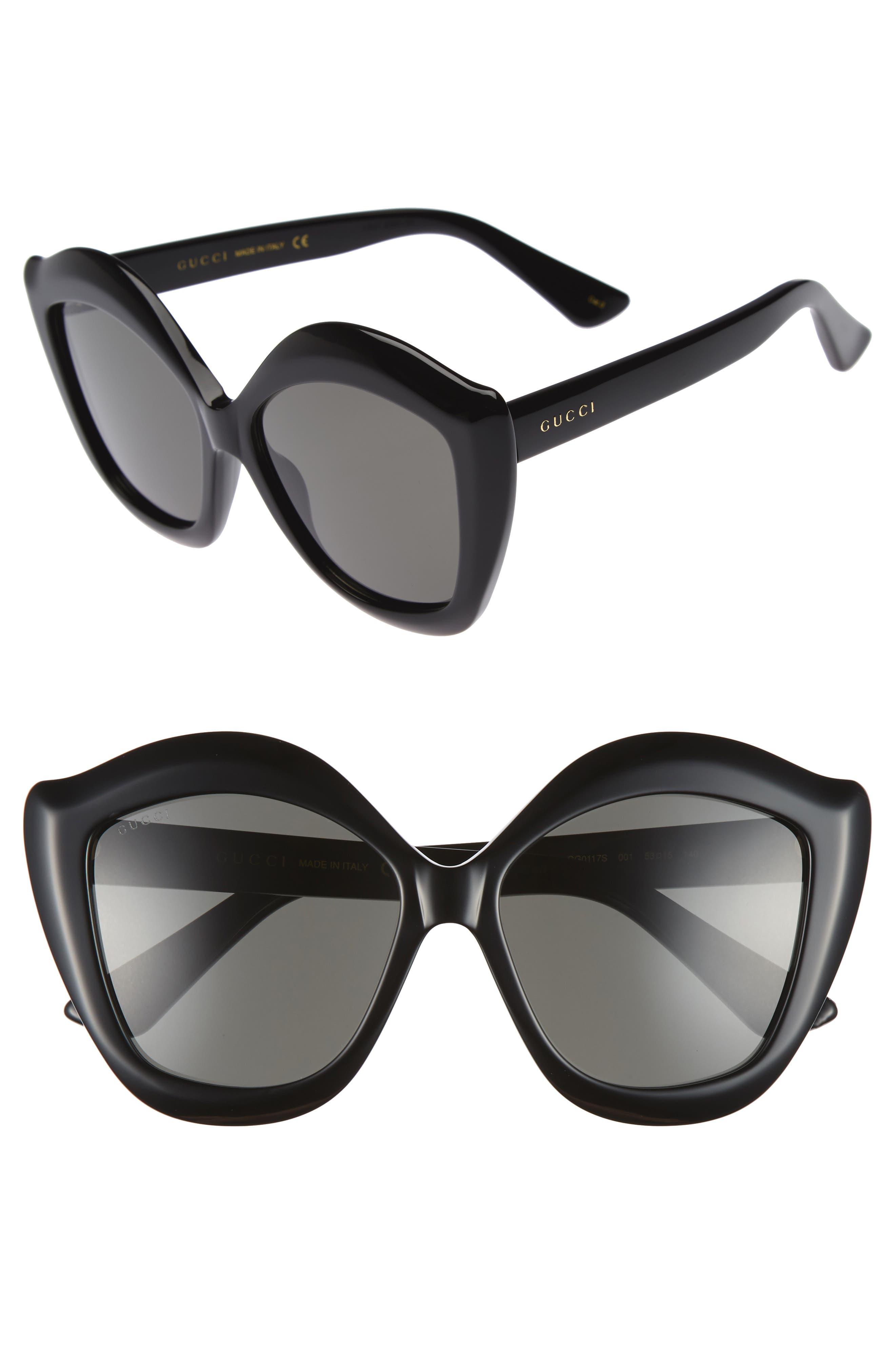 GUCCI 53mm Cat Eye Sunglasses