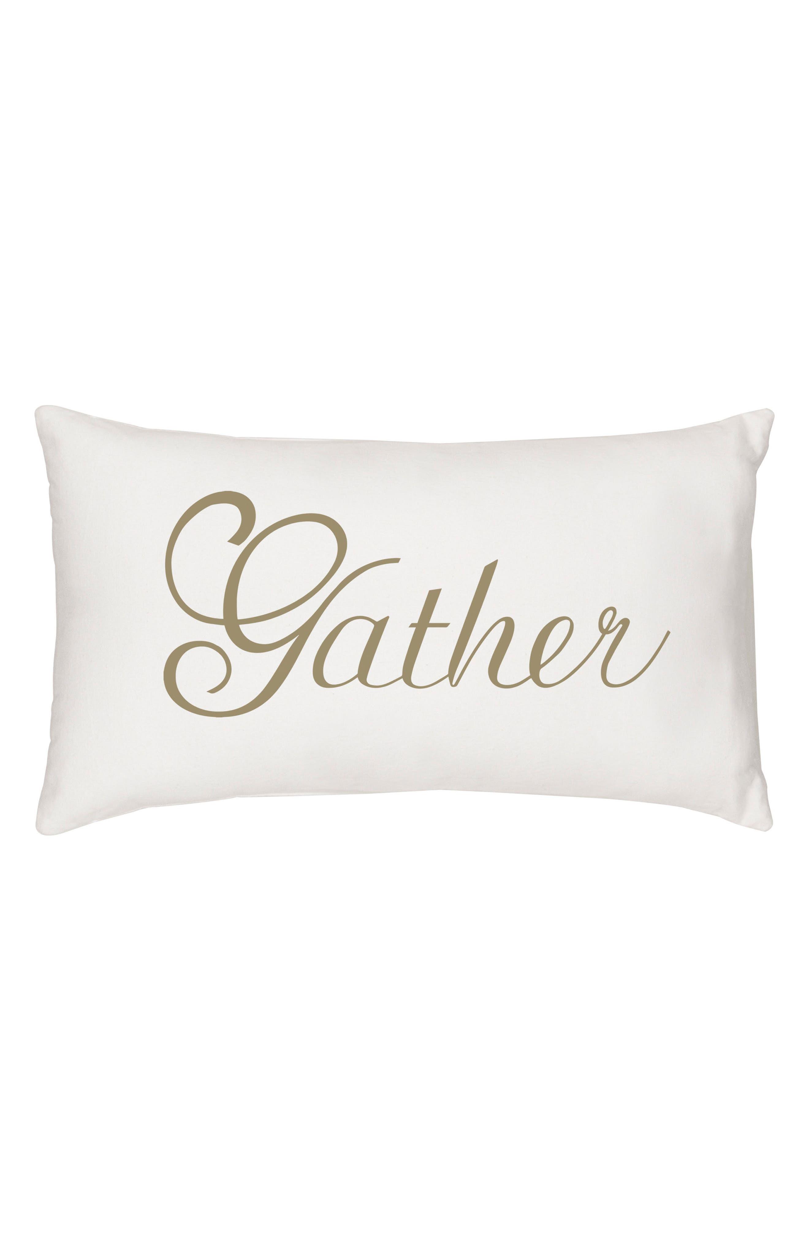 Gather Lumbar Accent Pillow,                         Main,                         color, Gold