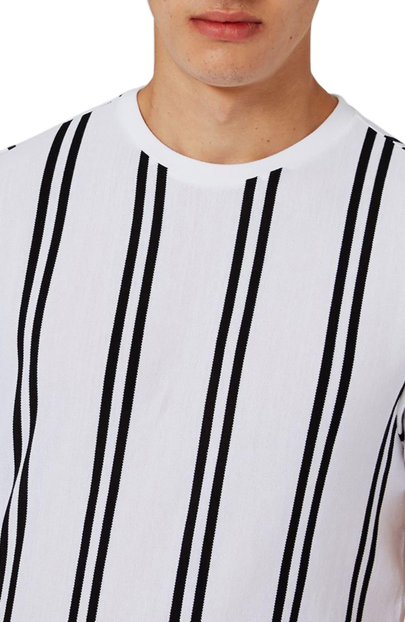 Dilan Stripe T-Shirt,                             Alternate thumbnail 3, color,                             White Multi