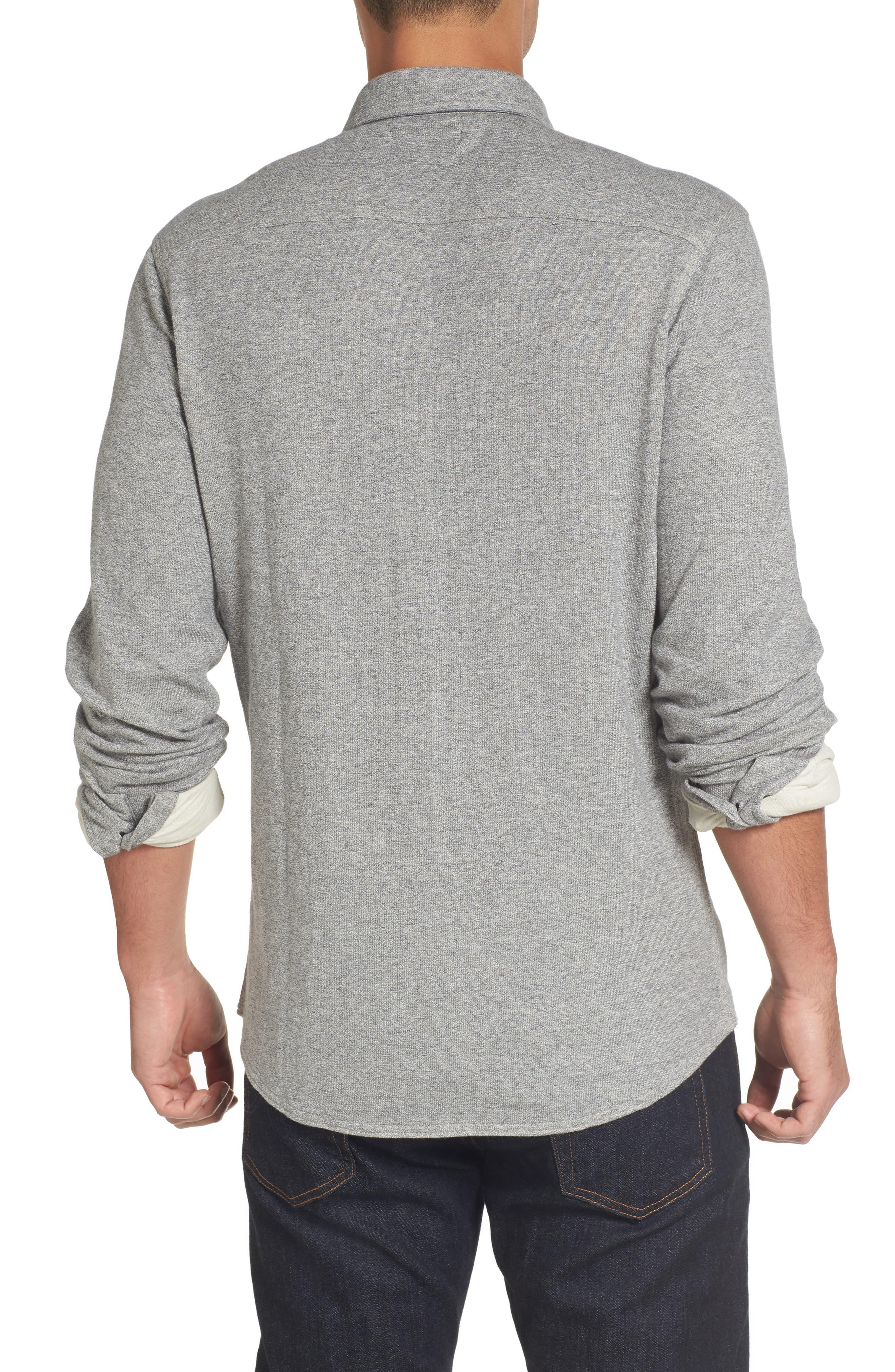 Alternate Image 2  - Nordstrom Men's Shop Trim Fit Knit Sport Shirt (Tall)