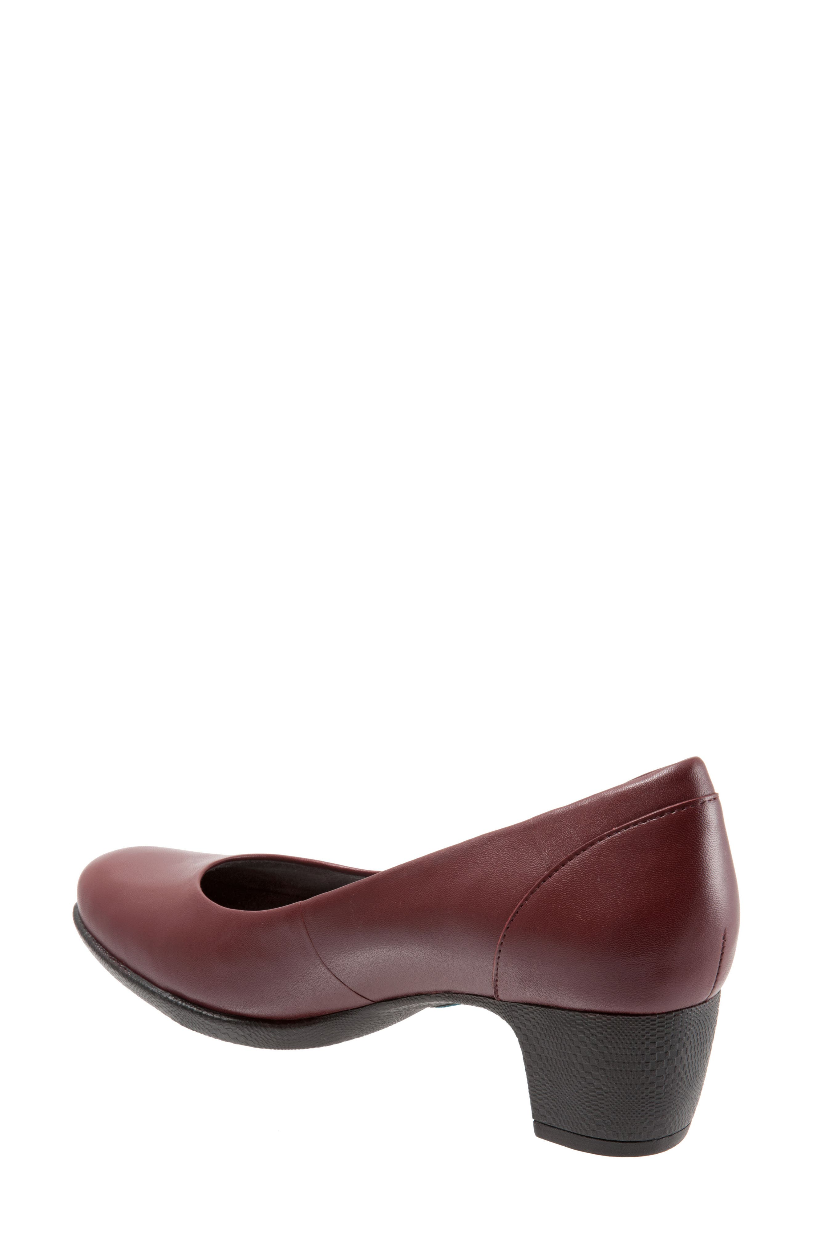 Imperial II Pump,                             Alternate thumbnail 3, color,                             Dark Red Leather