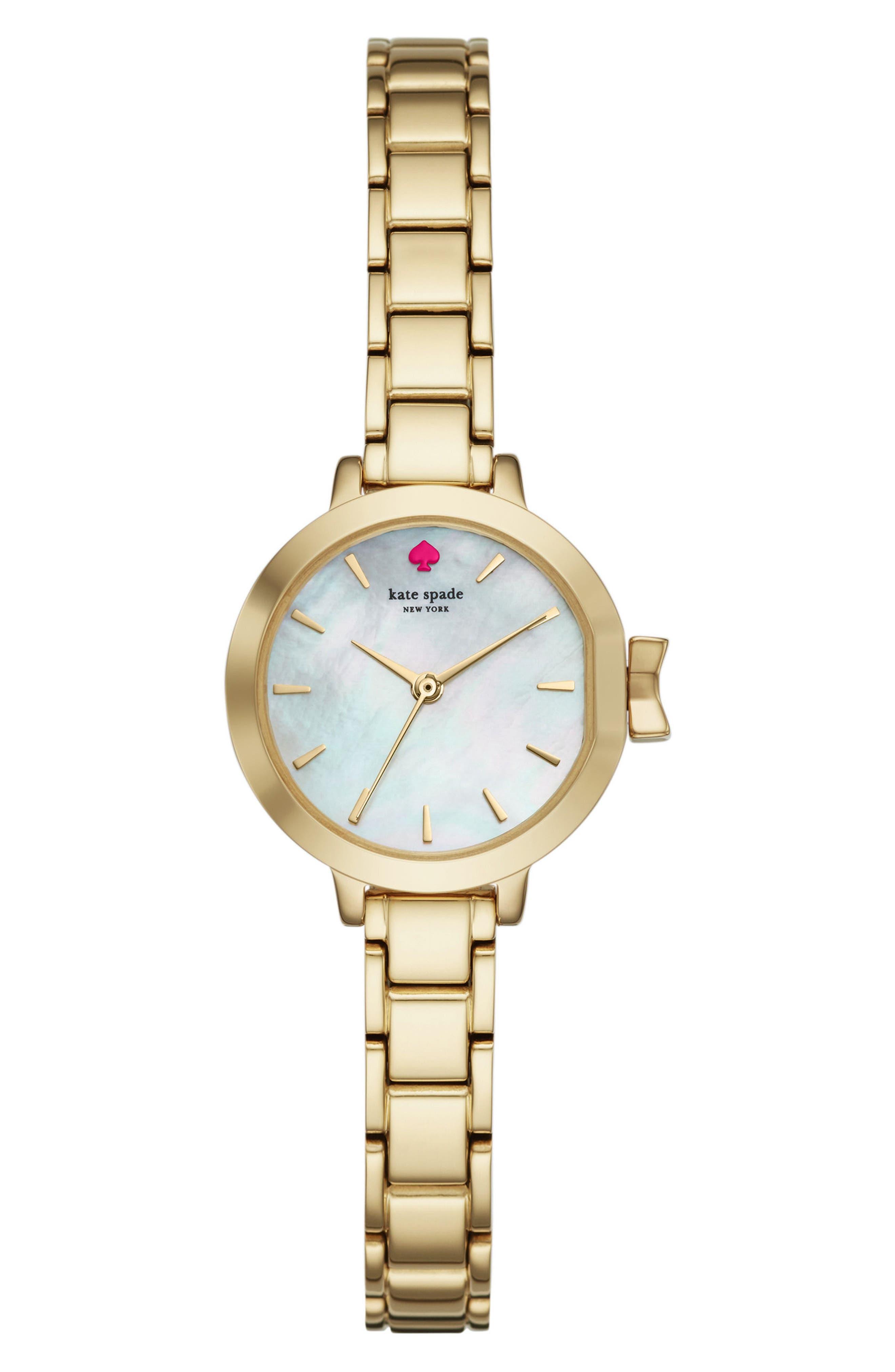 park row bracelet watch, 24mm,                         Main,                         color, Gold/ Mop/ Gold
