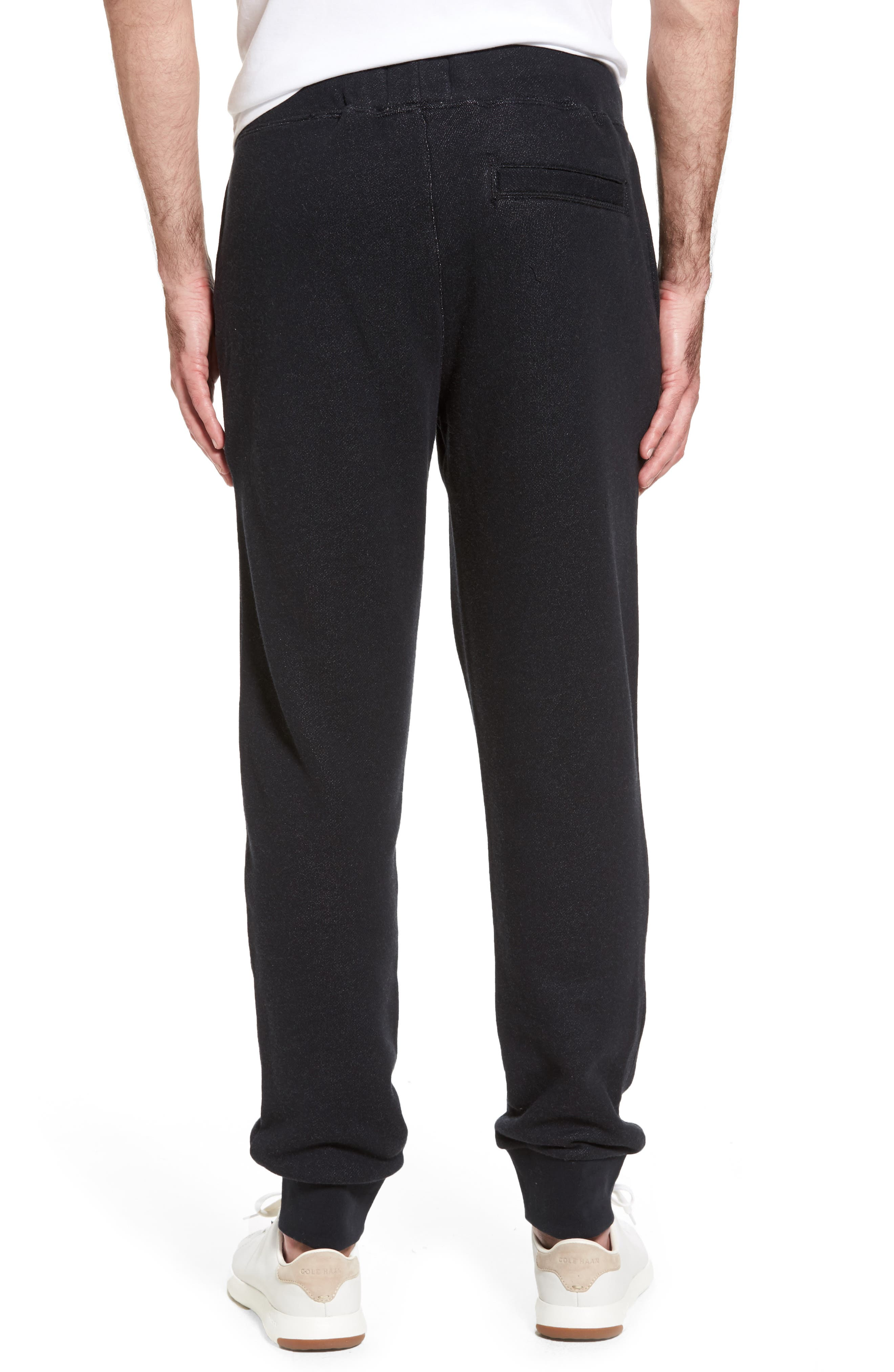 French Terry Jogger Pants,                             Alternate thumbnail 2, color,                             Black