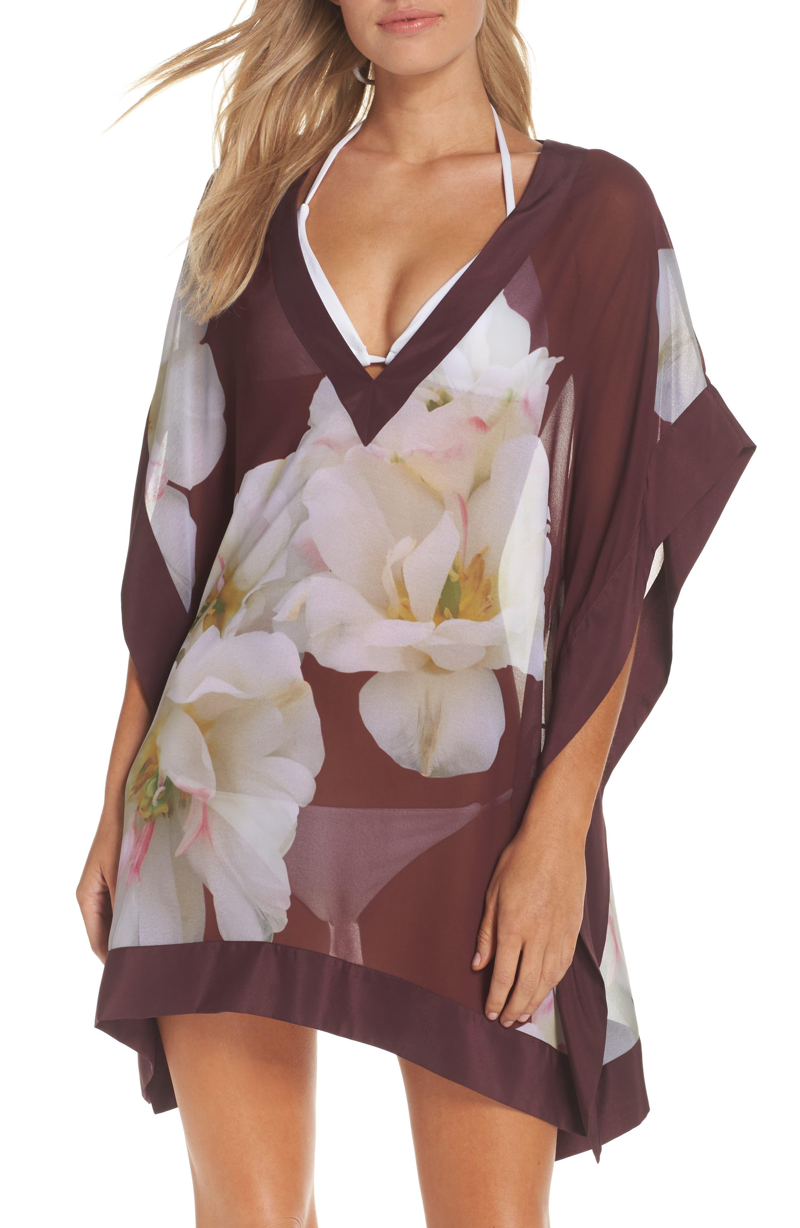 Garsa Gardenia Cover-Up Tunic,                         Main,                         color, Maroon