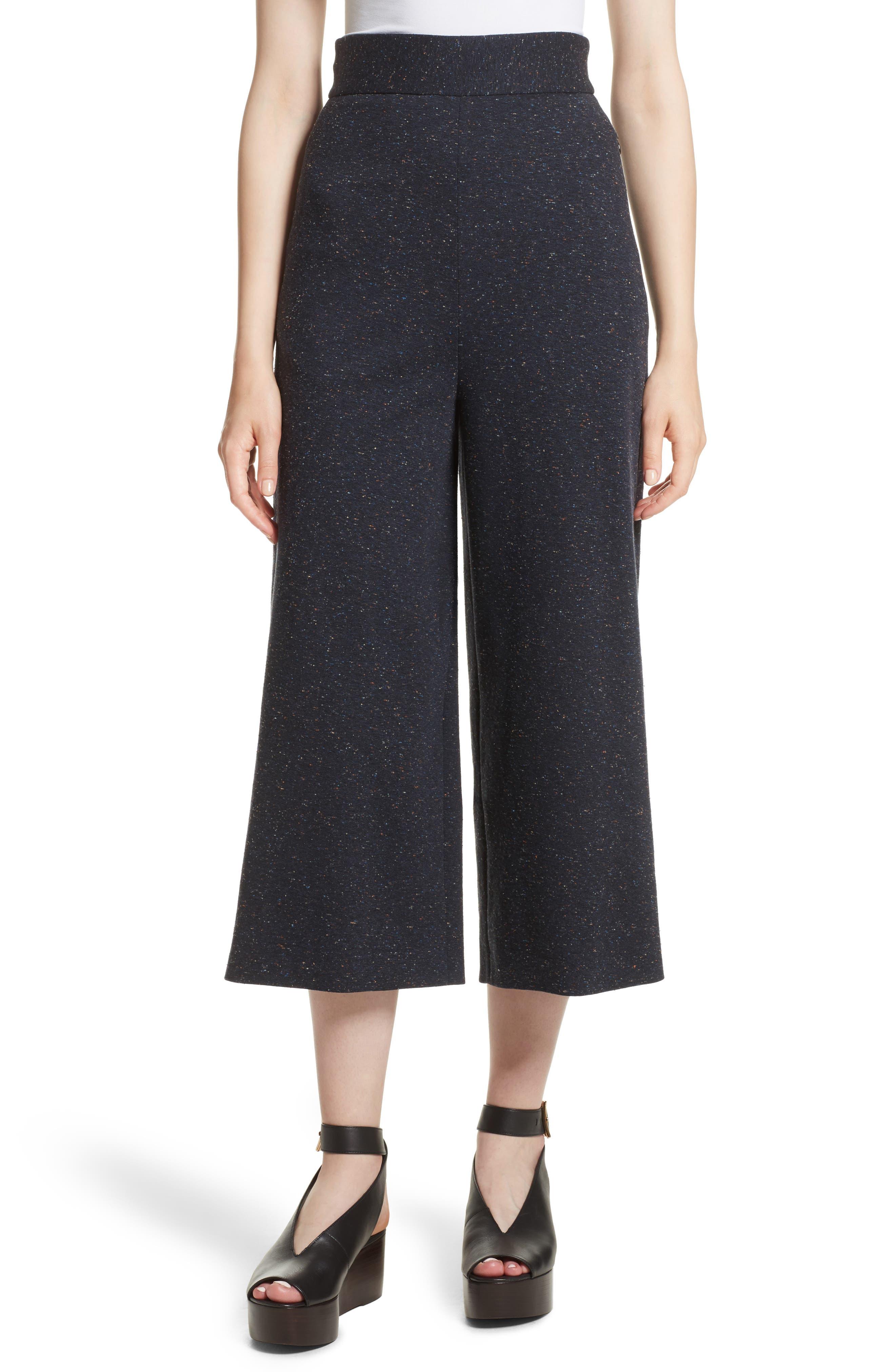 Imogen Tweedy Nerd Crop Pants,                         Main,                         color, Navy