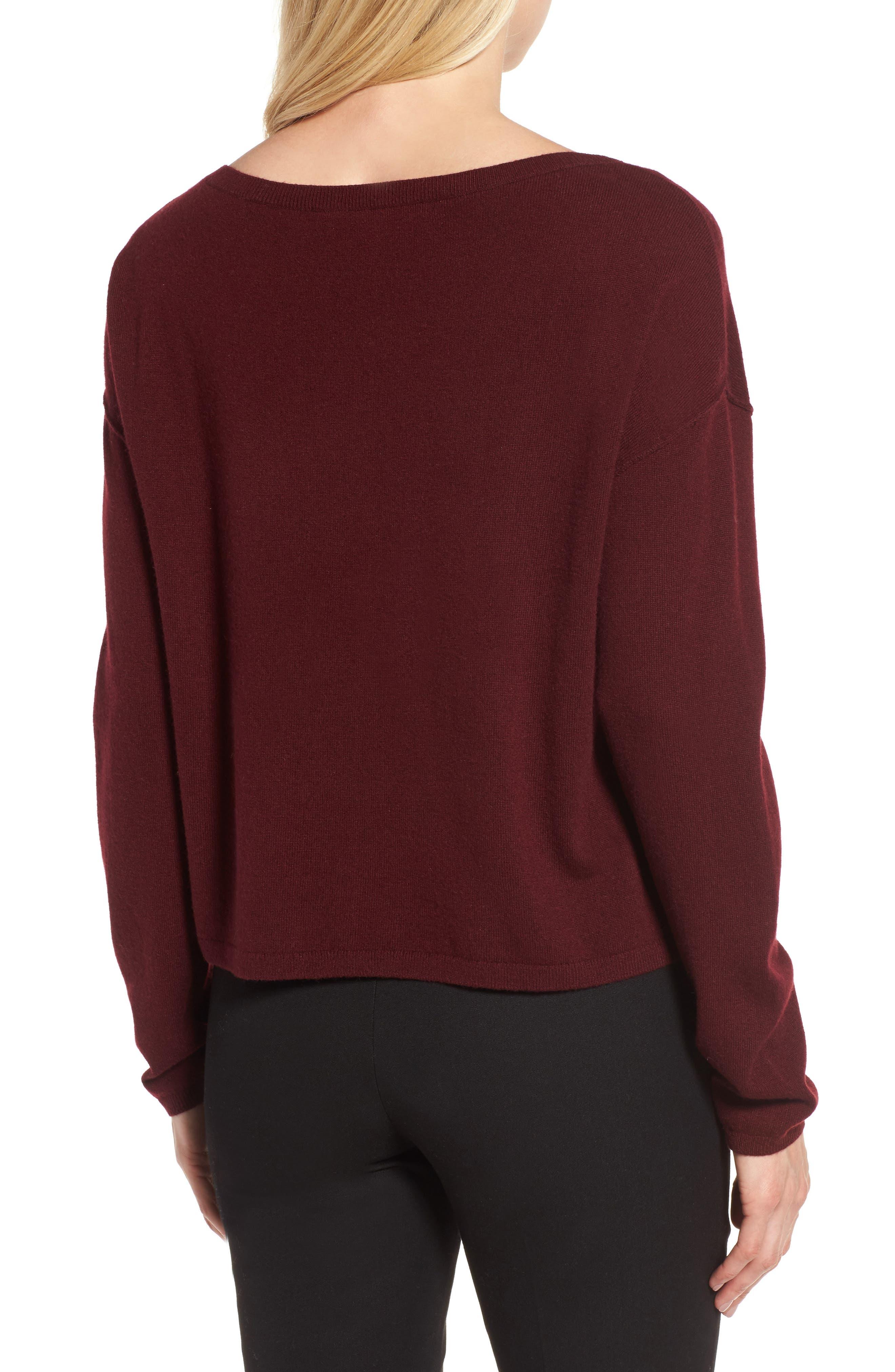 Alternate Image 2  - Nordstrom Signature Bateau Neck Cashmere Sweater