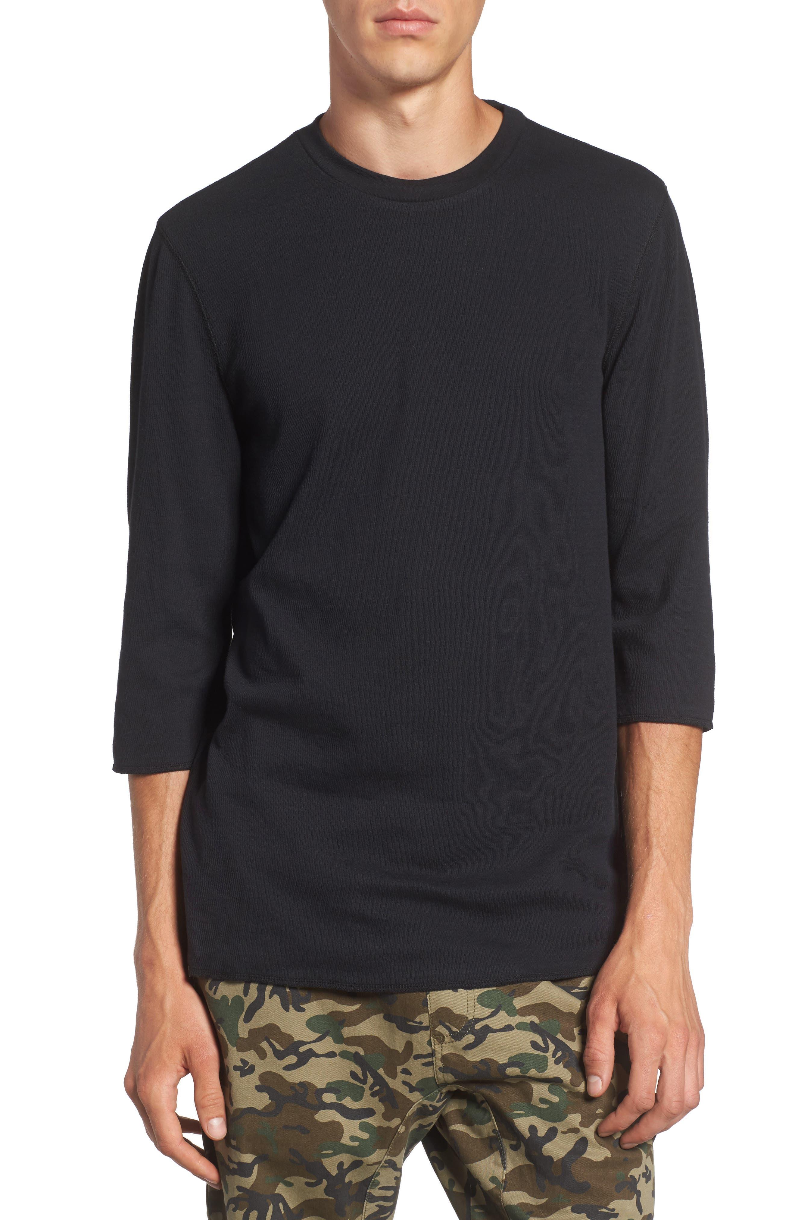 Main Image - The Rail Three-Quarter-Sleeve Thermal T-Shirt