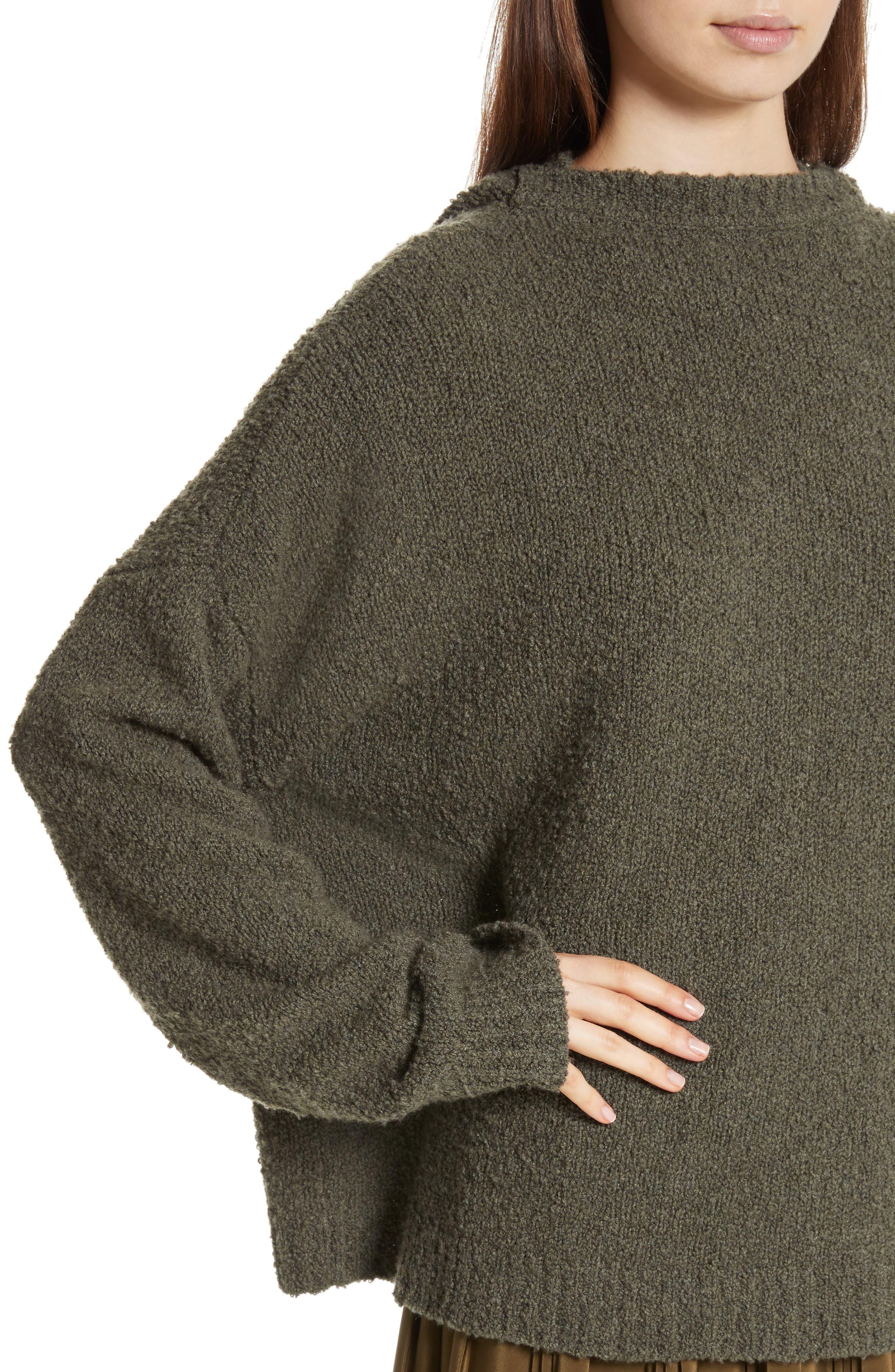 Alternate Image 5  - Robert Rodriguez Merino Wool & Cashmere Reversible Hooded Sweater