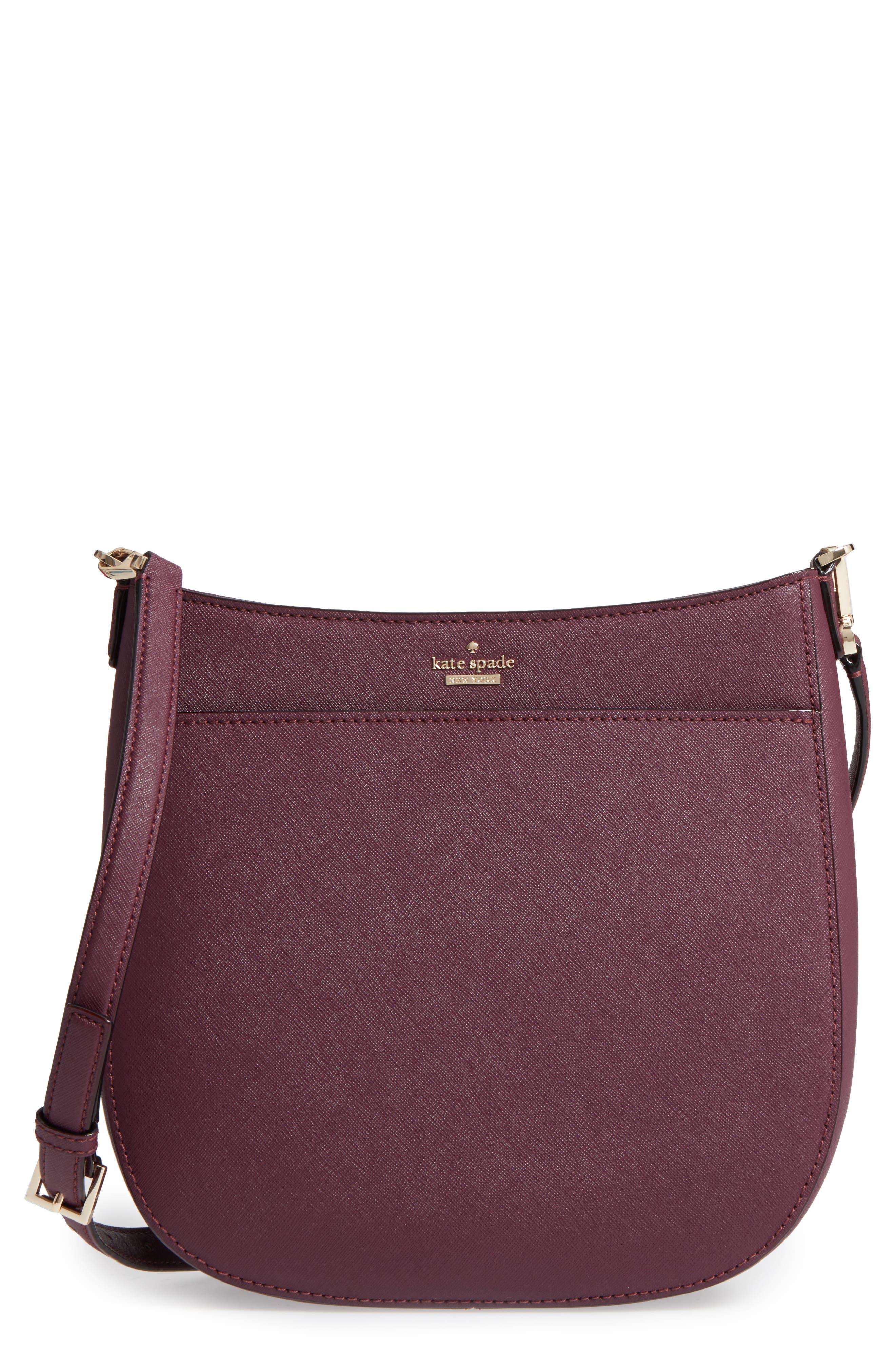 cameron street - robin leather crossbody bag,                         Main,                         color, Deep Plum