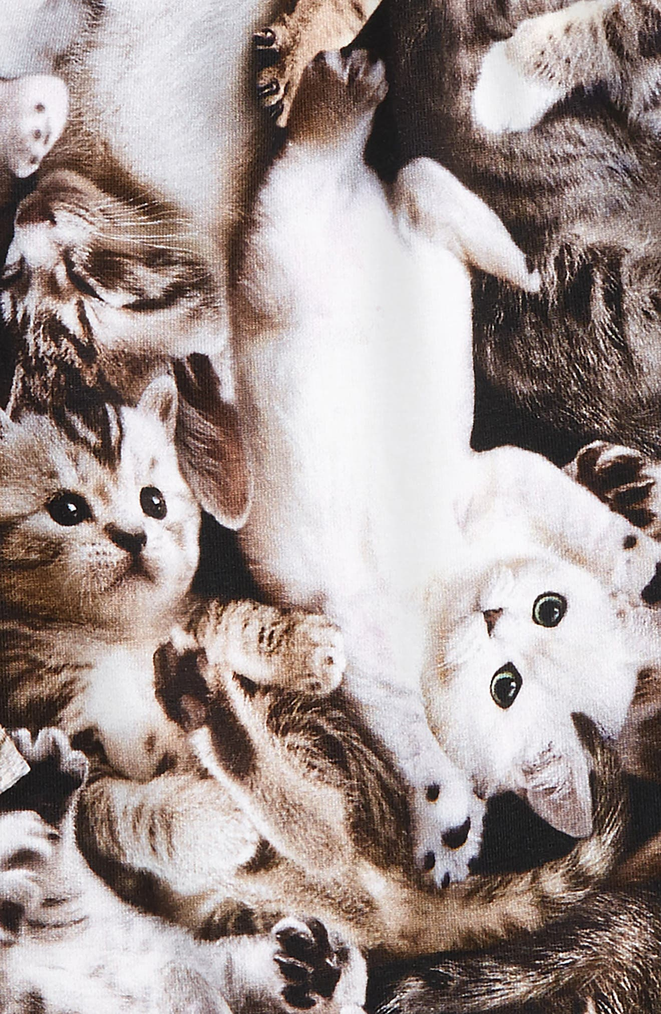 Cammon Print Dress,                             Alternate thumbnail 2, color,                             Kittens