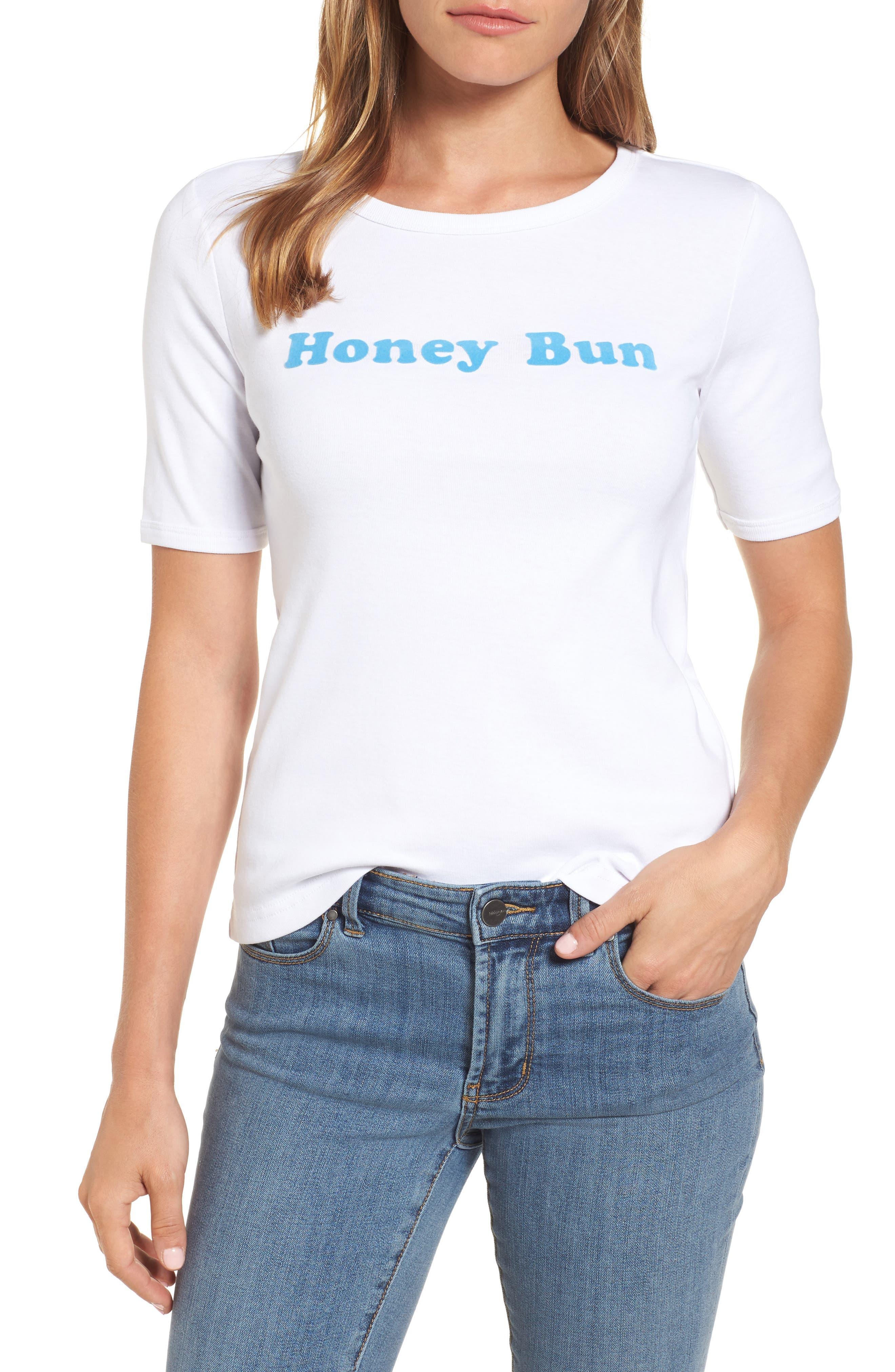 Honey Bun Tee,                         Main,                         color, Willow White