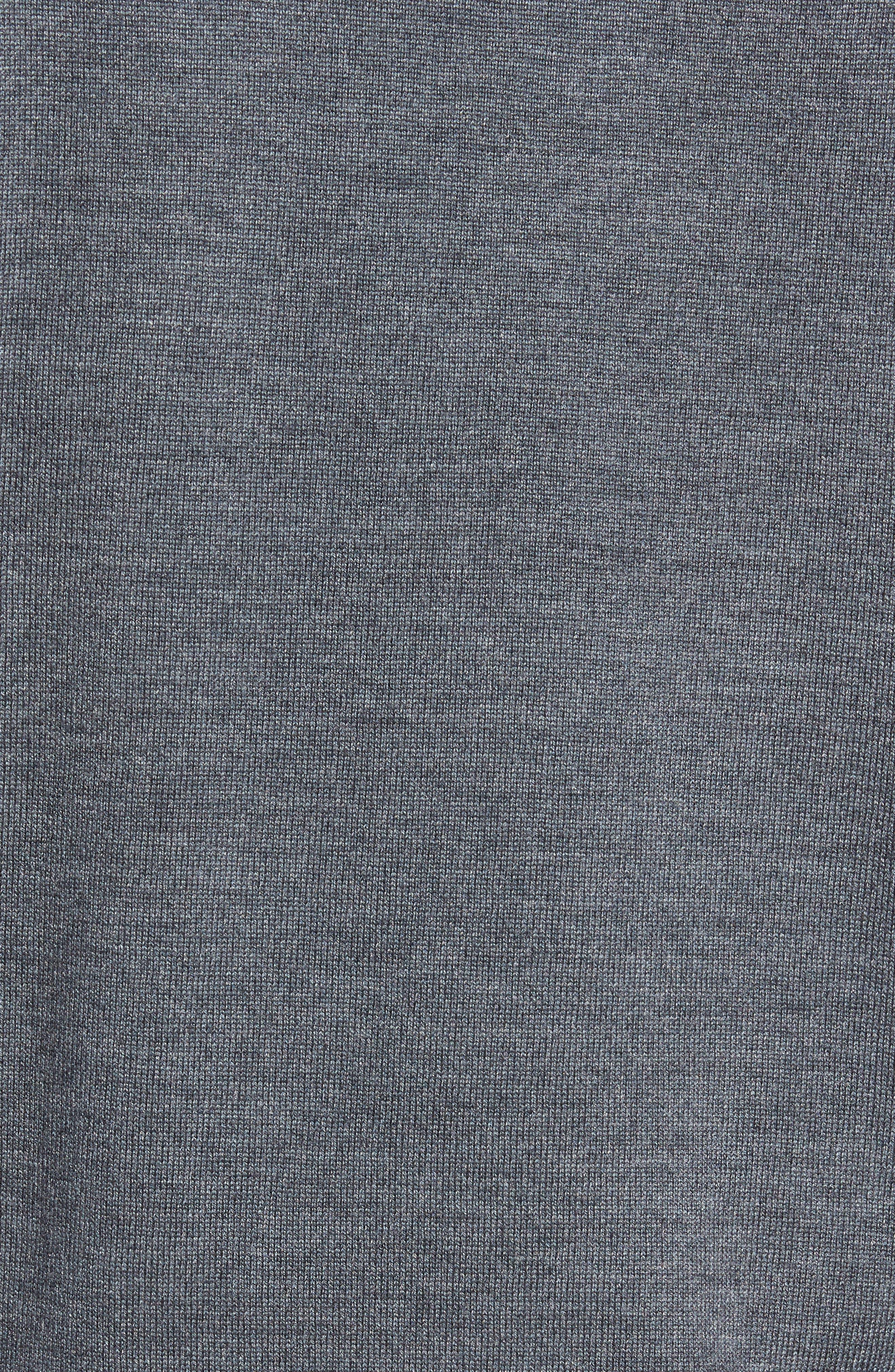 Crown Merino Blend Knit Vest,                             Alternate thumbnail 5, color,                             Charcoal