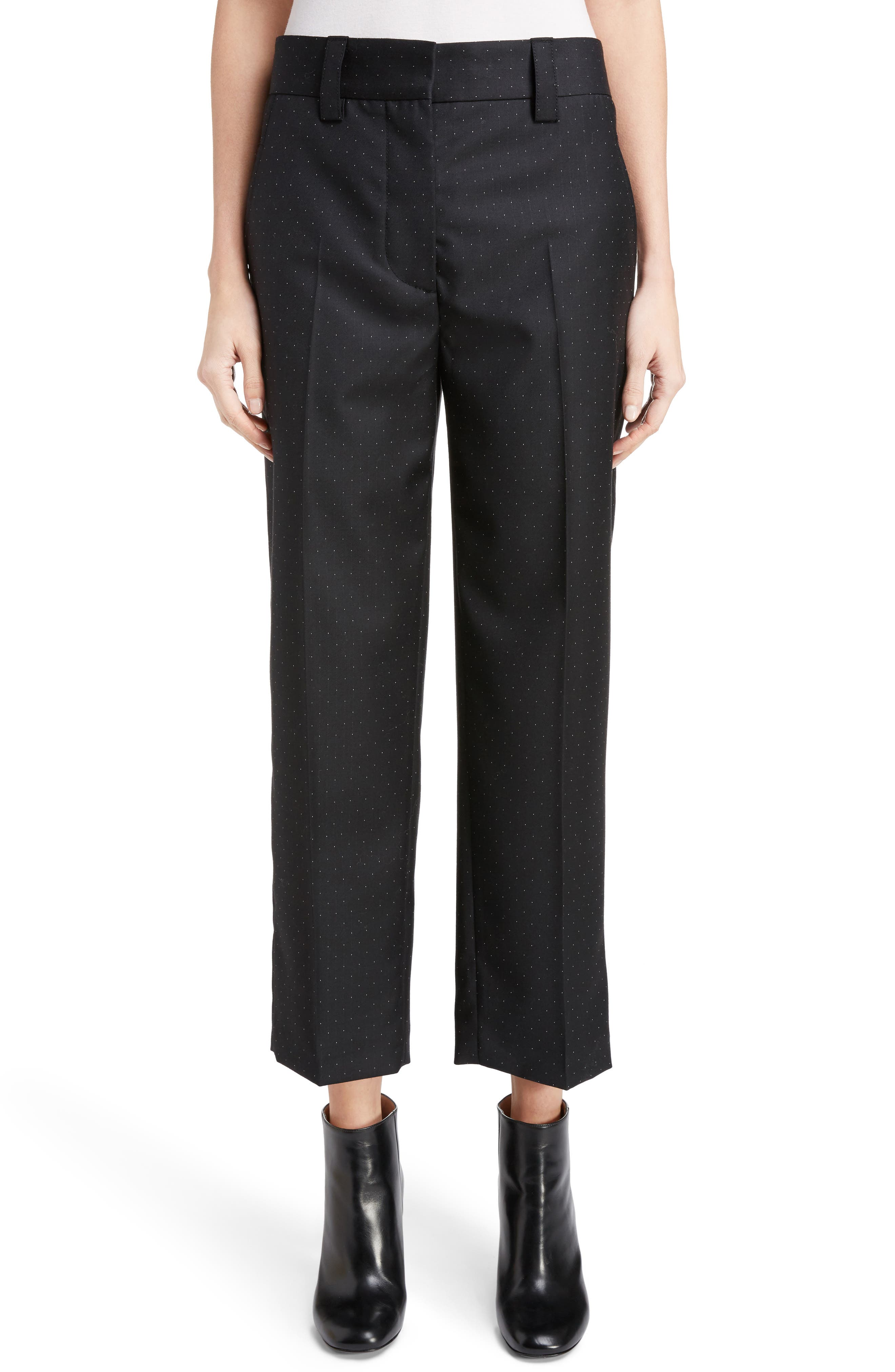 Trea Dot Straight Leg Pants,                         Main,                         color, Navy