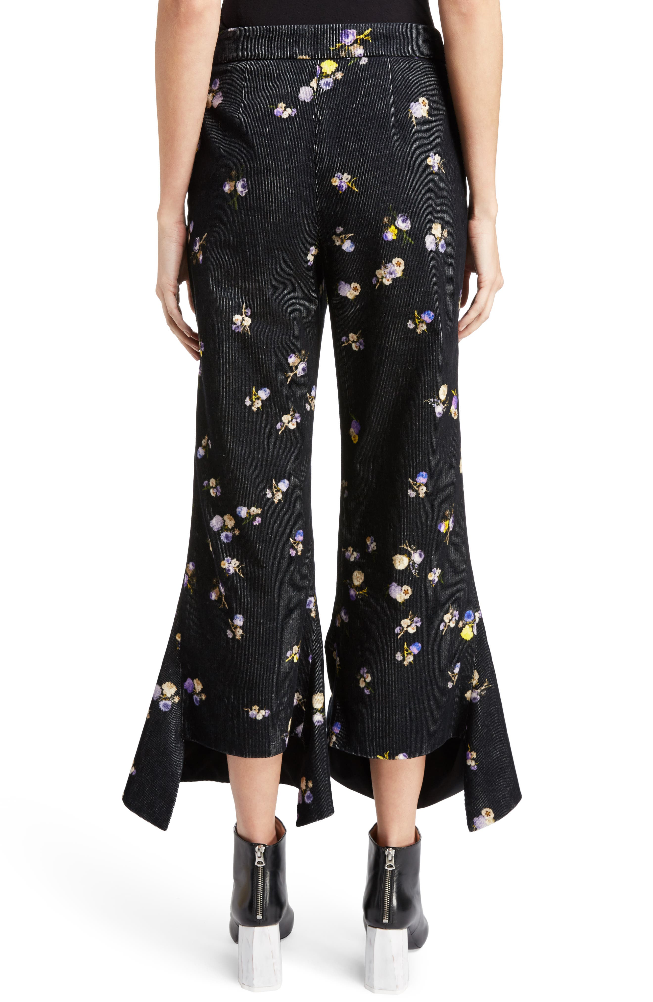 Alternate Image 2  - ACNE Studios Tyme Floral Corduroy Wide Leg Pants