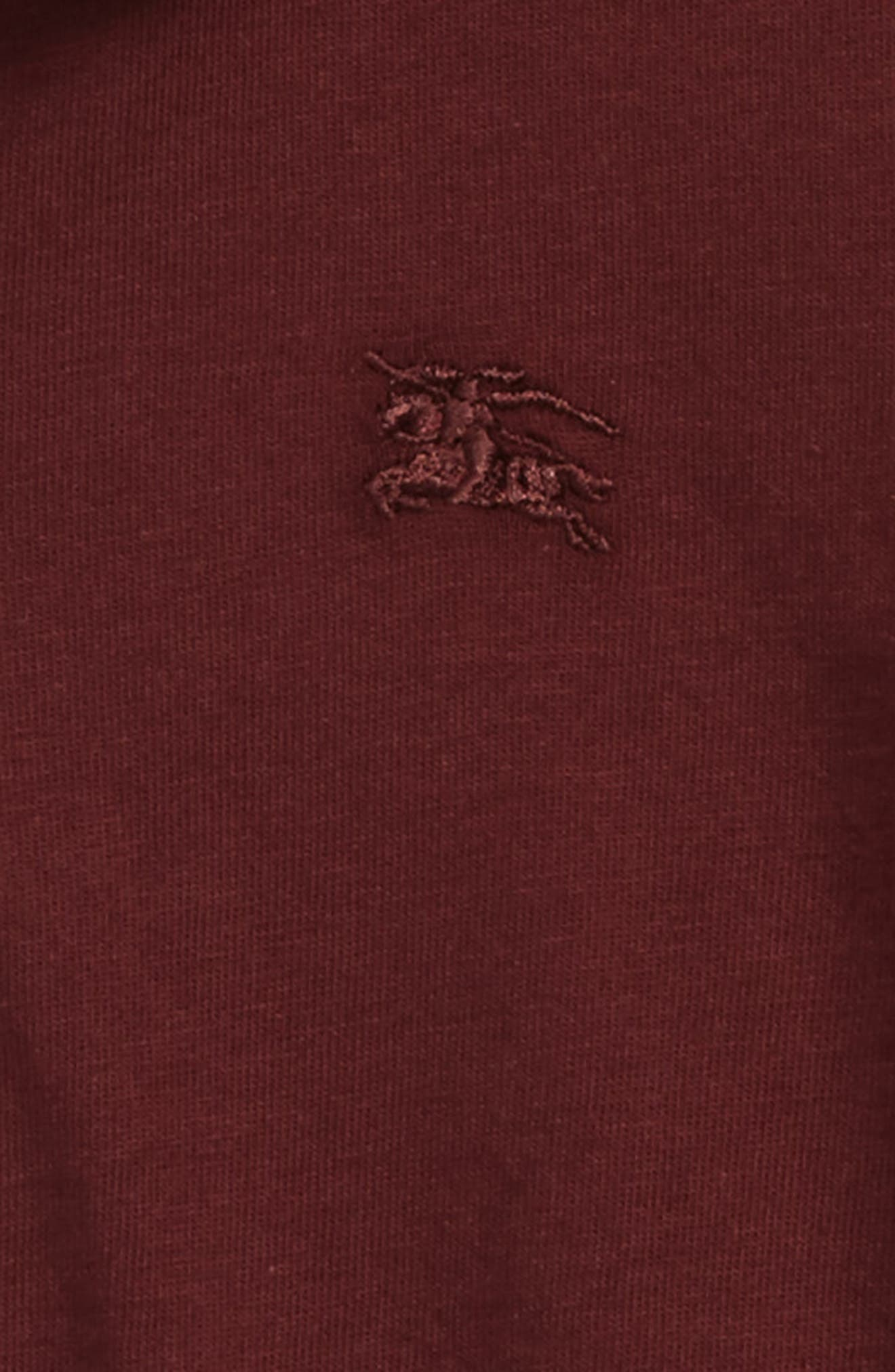 'Mini' Long Sleeve Polo Shirt,                             Alternate thumbnail 2, color,                             Oxblood