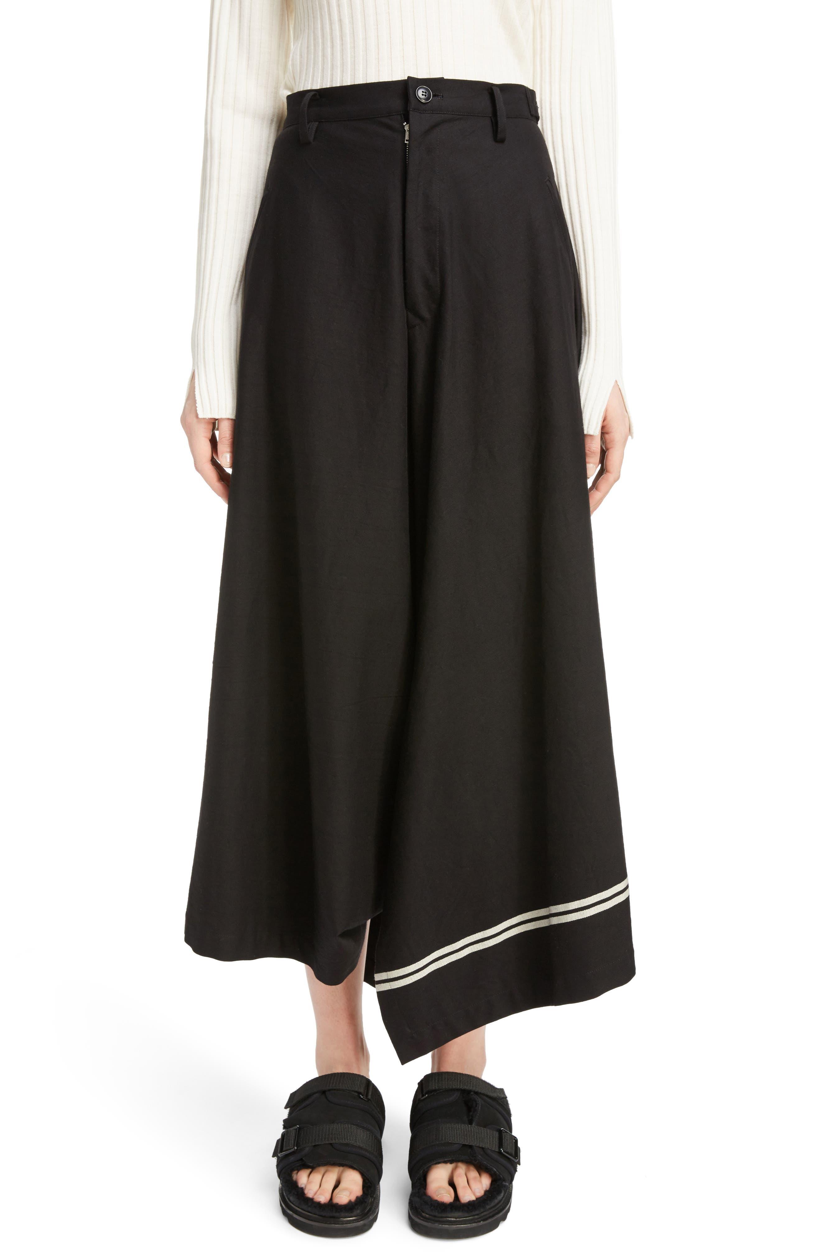 Y's by Yohji Yamamoto Dart Front Skirt