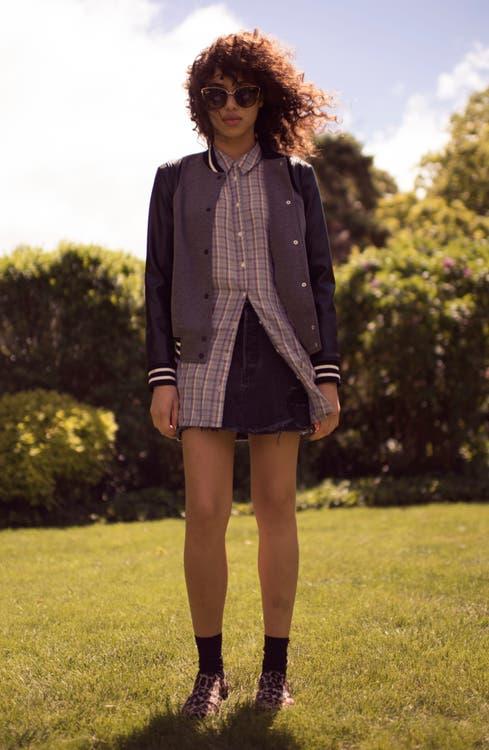 Main Image - Trouvé Varsity Jacket