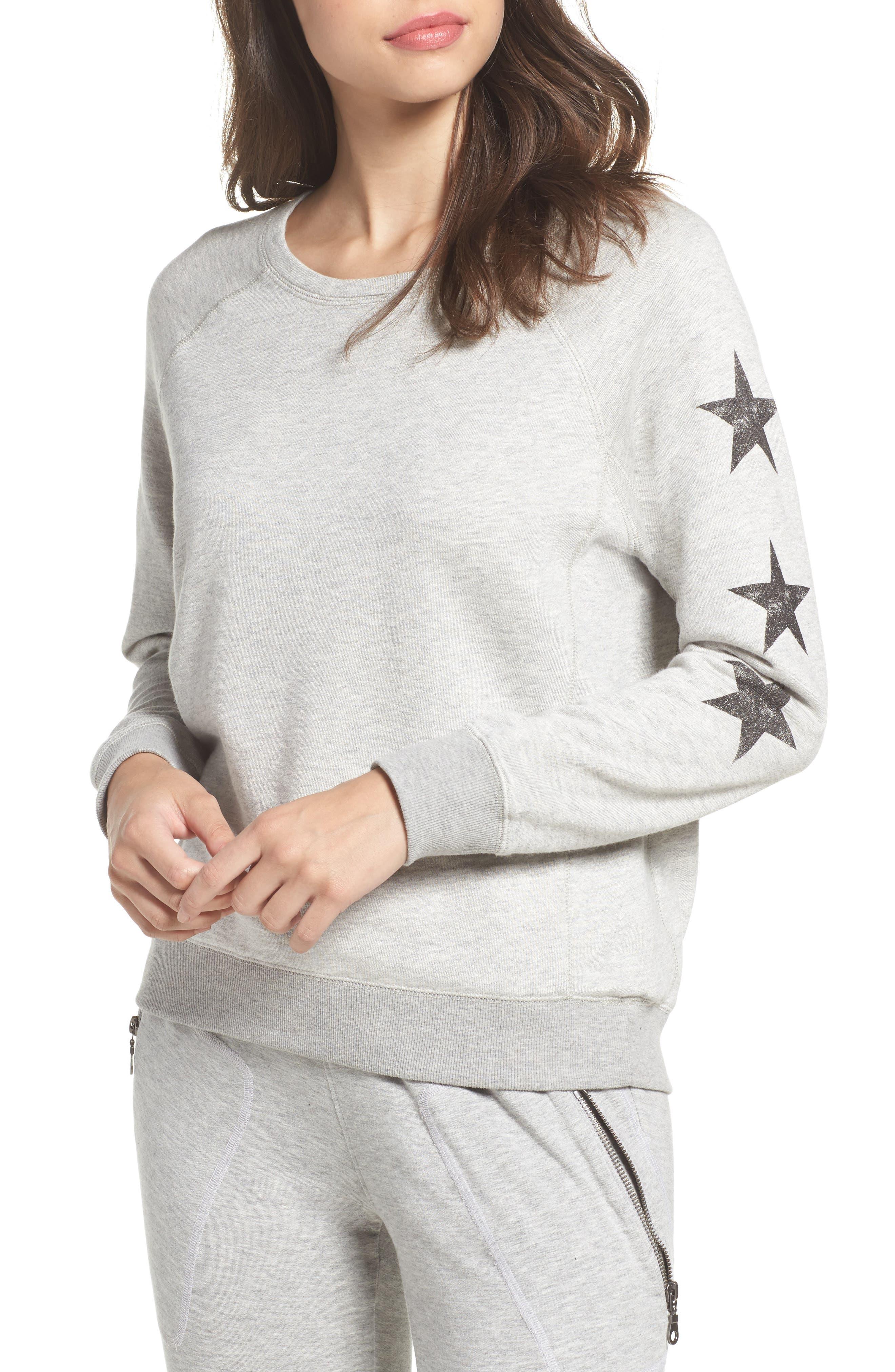 Star Raglan Pullover,                         Main,                         color, Grey