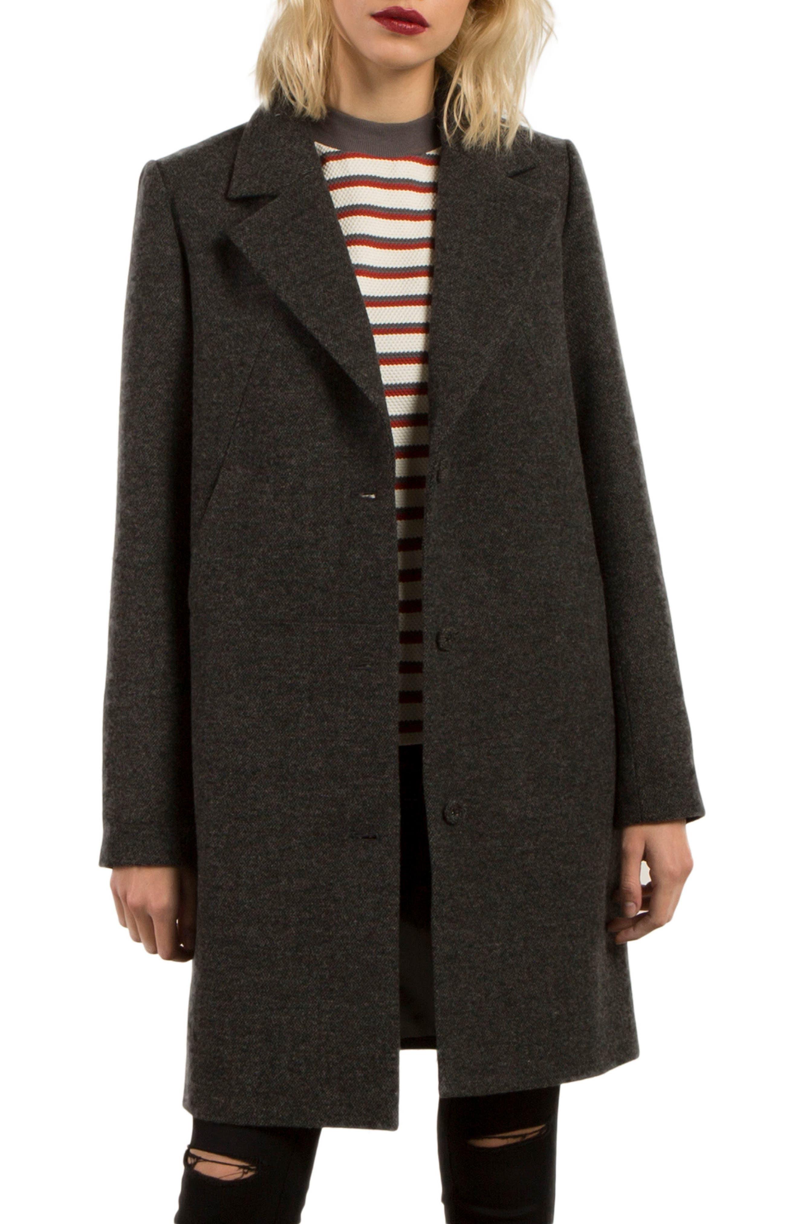 Smart Farce Coat,                         Main,                         color, Black