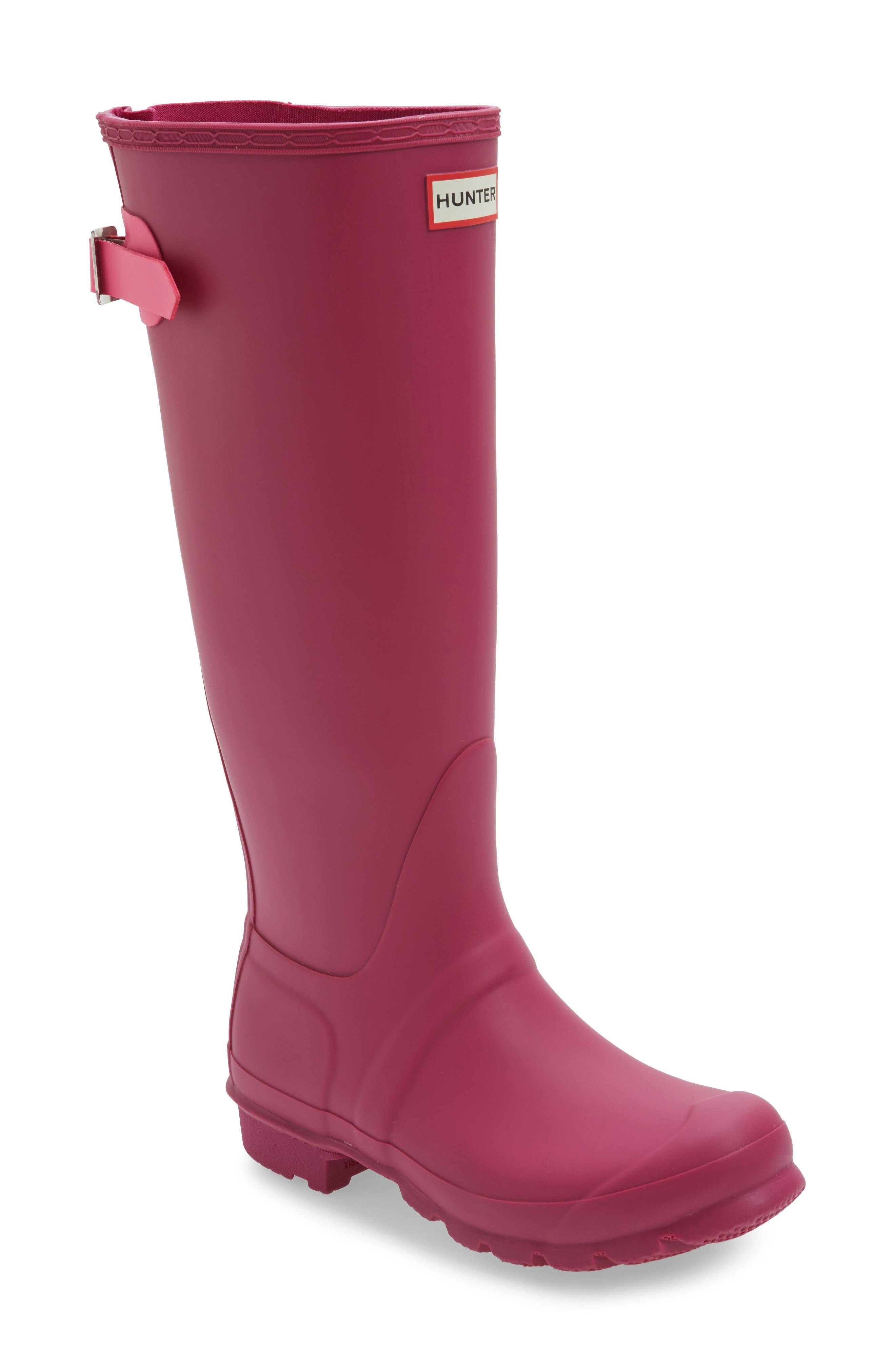Adjustable Calf Rain Boot,                         Main,                         color, Dark Ion Pink/ Ion Pink