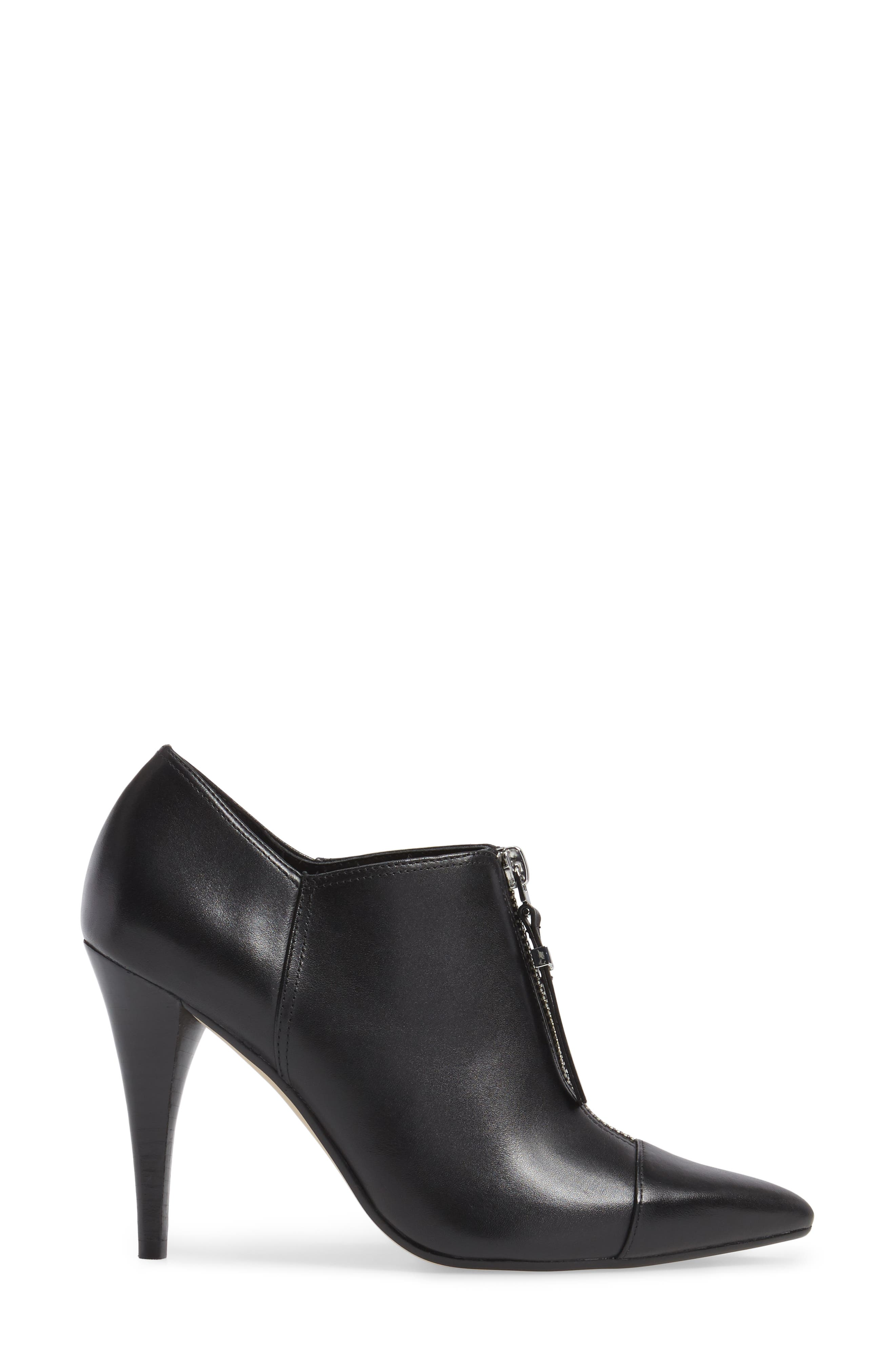 Andi Zip Front Bootie,                             Alternate thumbnail 3, color,                             Black