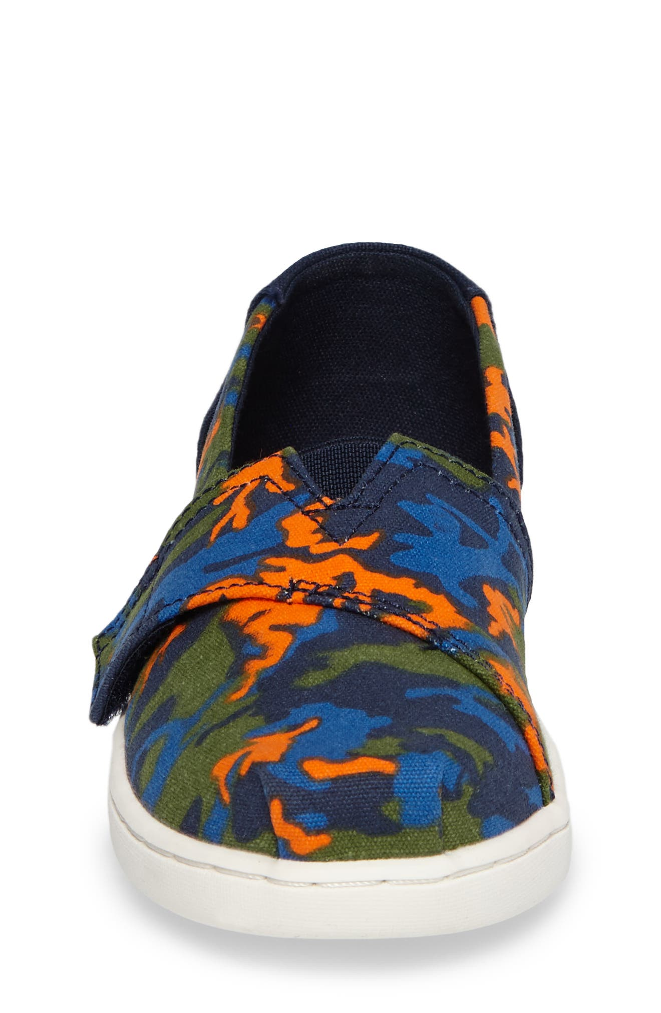 Tiny Alpargata Print Slip-On,                             Alternate thumbnail 4, color,                             Navy Canvas