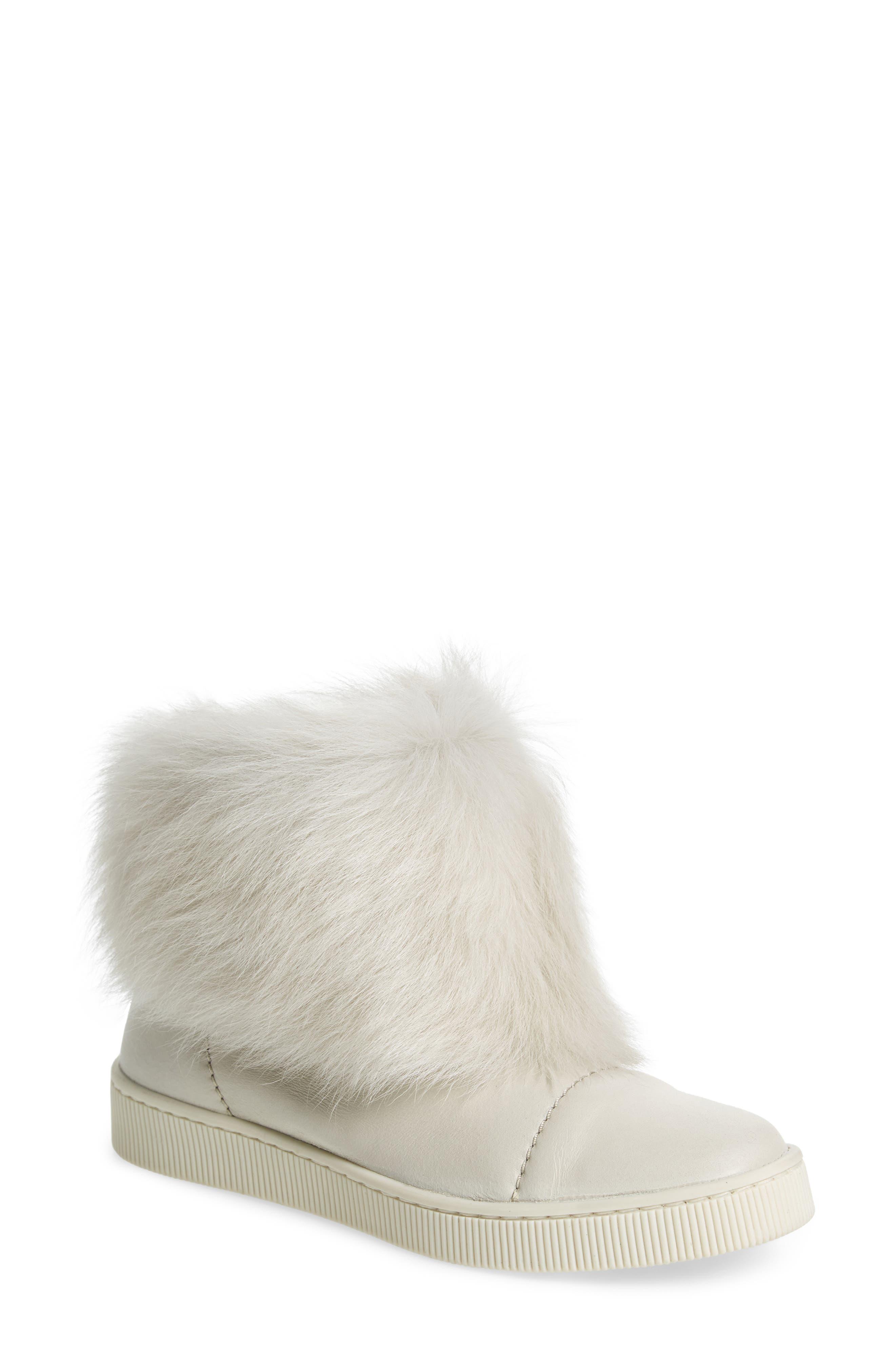 Alternate Image 1 Selected - Pedro Garcia Priya Genuine Shearling Sneaker Boot (Women)