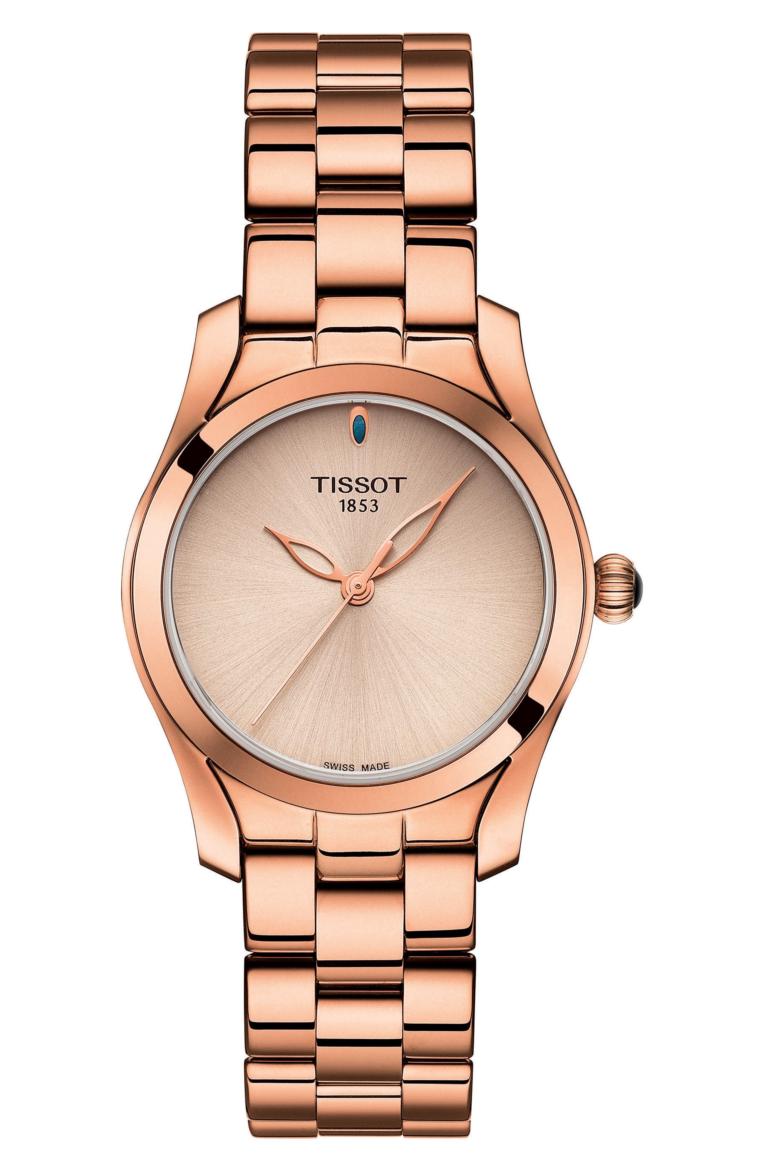 T-Wave Bracelet Watch, 30mm,                             Main thumbnail 1, color,                             Rose Gold