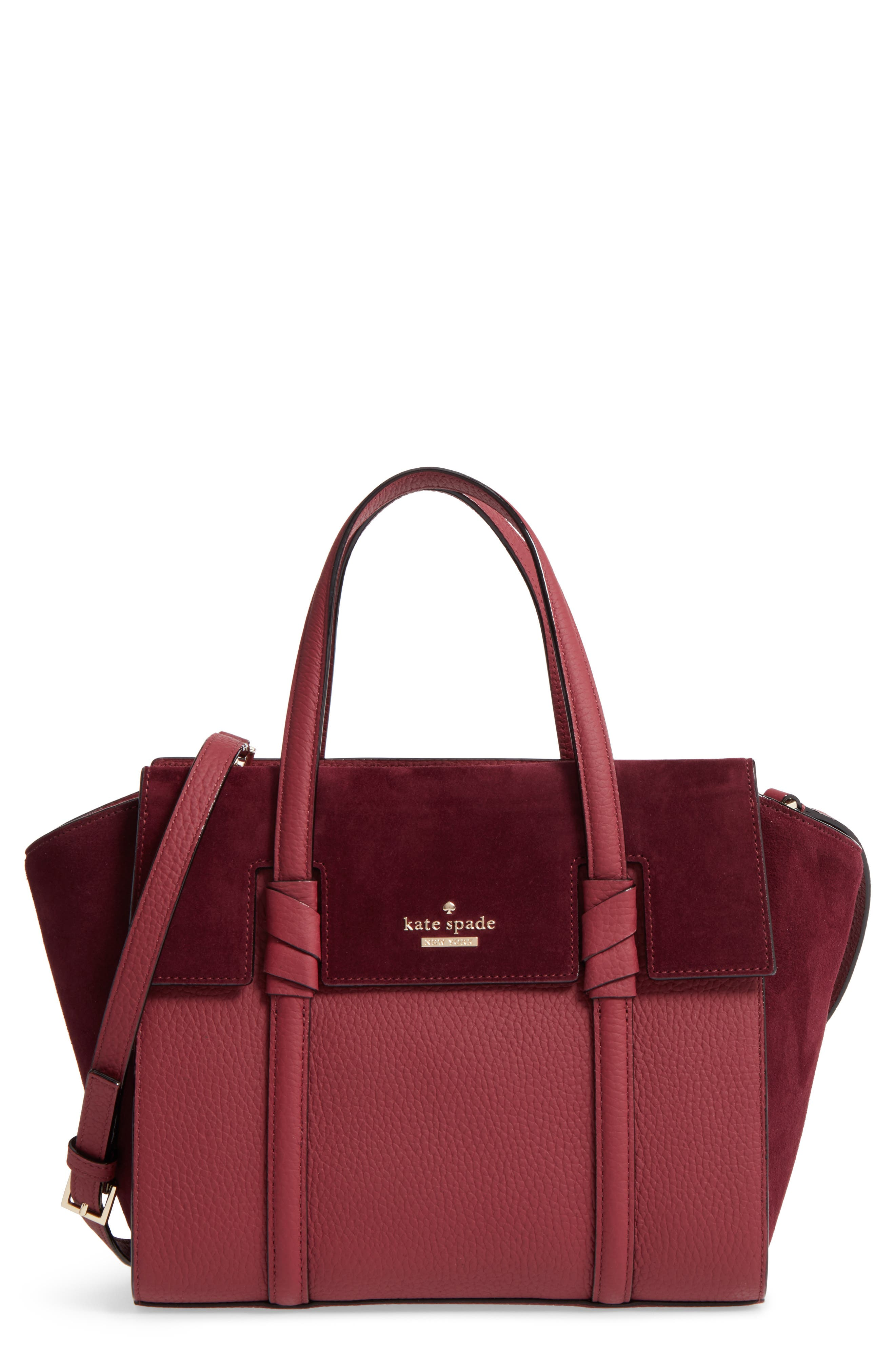 KATE SPADE NEW YORK daniels drive - small abigail suede & leather tote