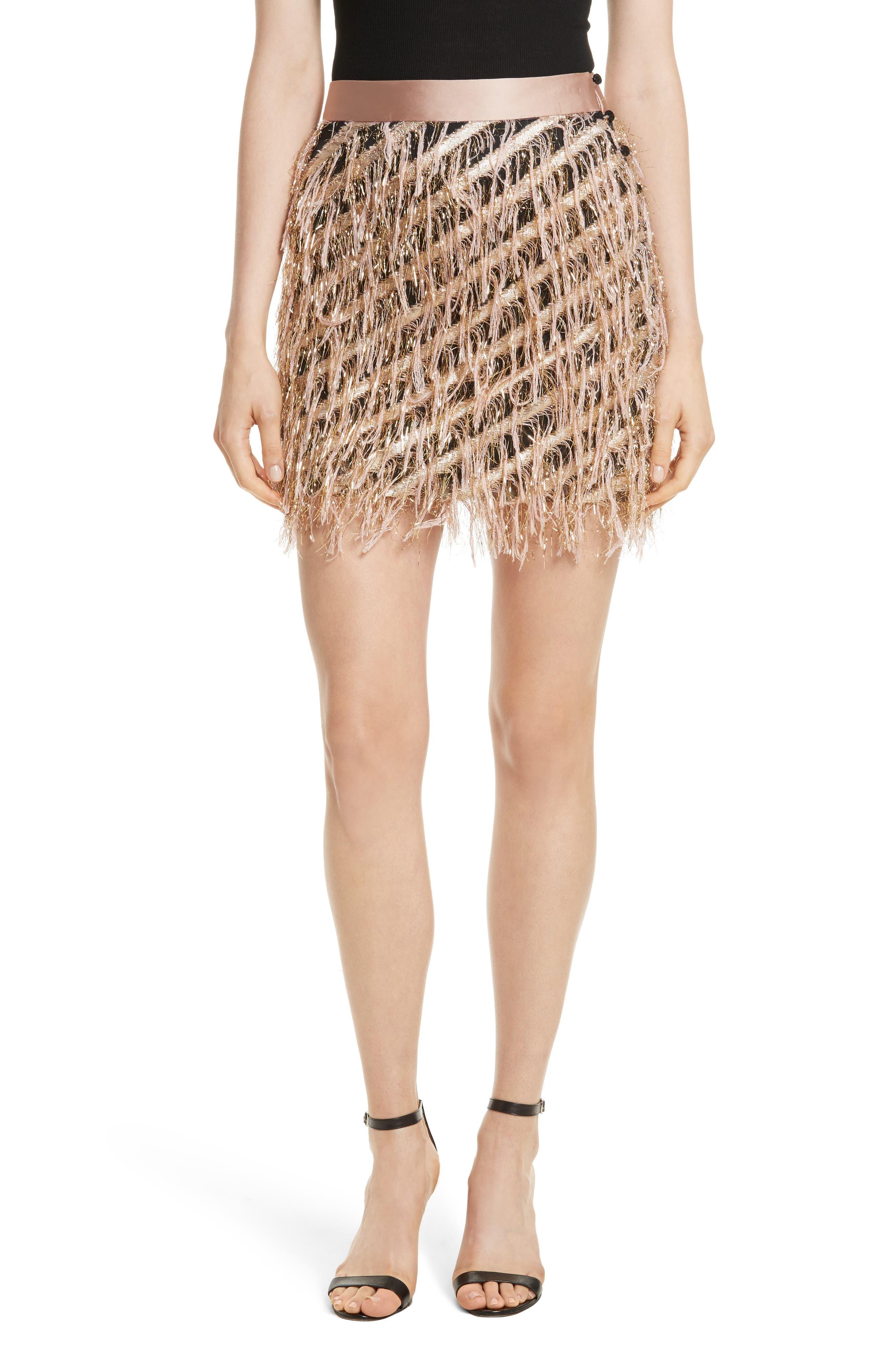 Fil Coupé Diagonal Stripe Miniskirt,                         Main,                         color, Blush