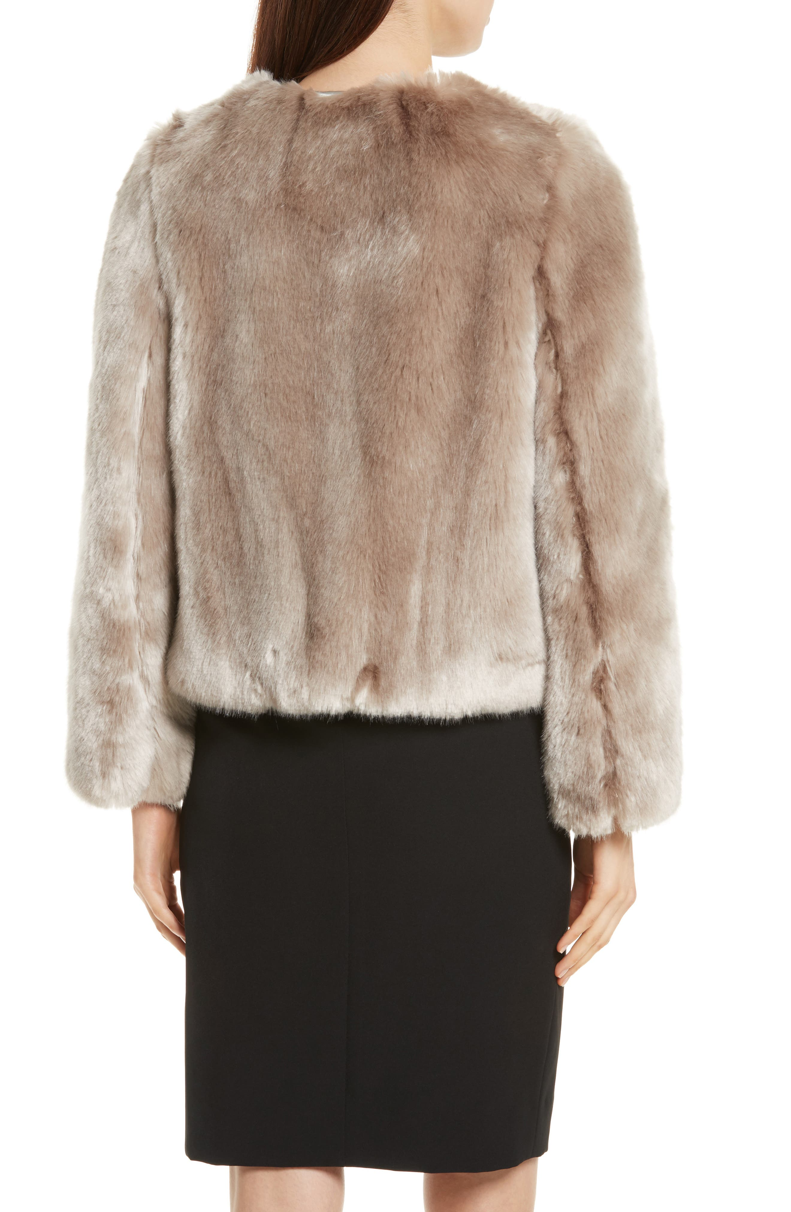 Faux Fur Jacket,                             Alternate thumbnail 2, color,                             Mink