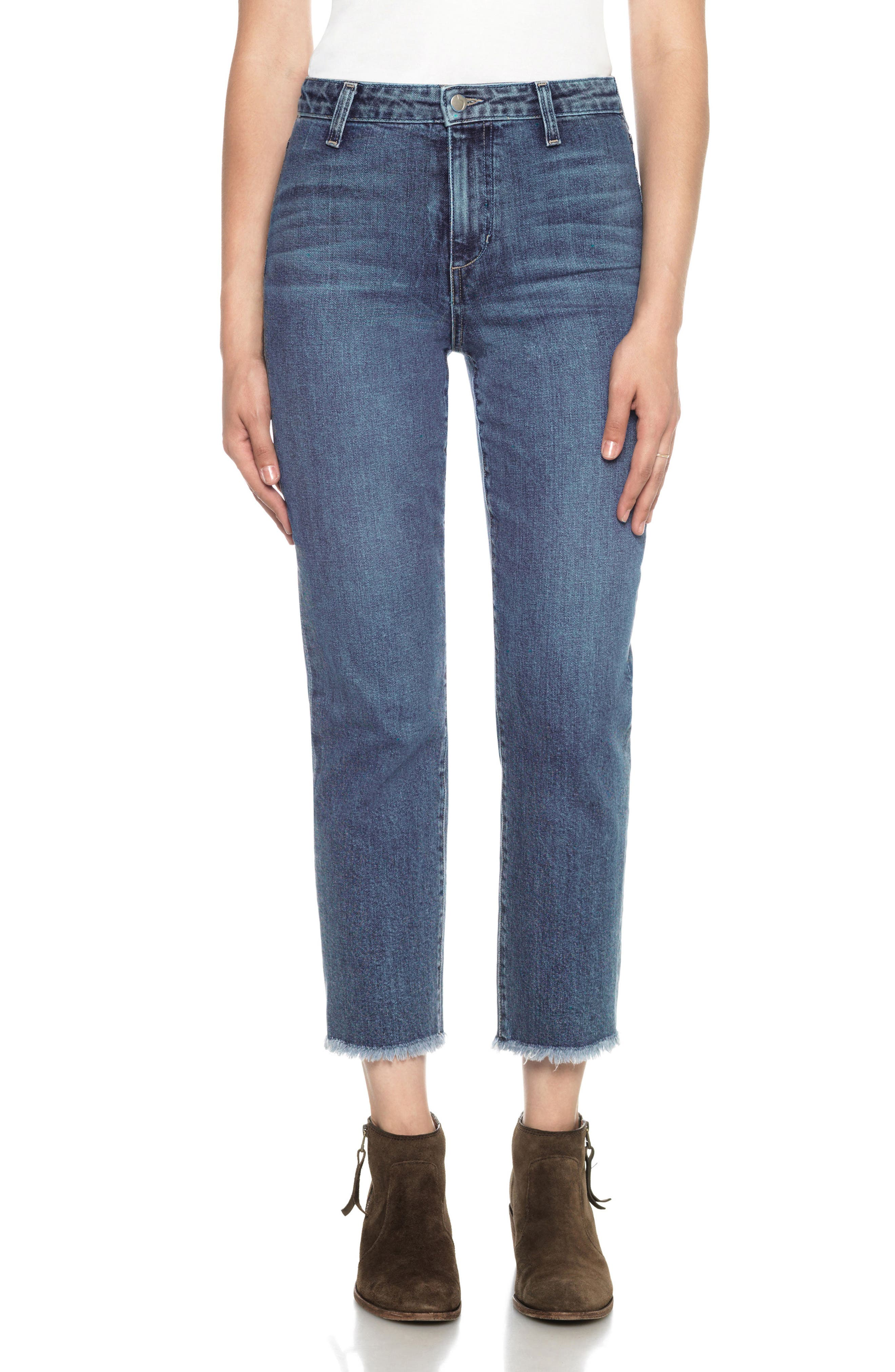 Jane Straight Leg Crop Jeans,                             Main thumbnail 1, color,                             Karla