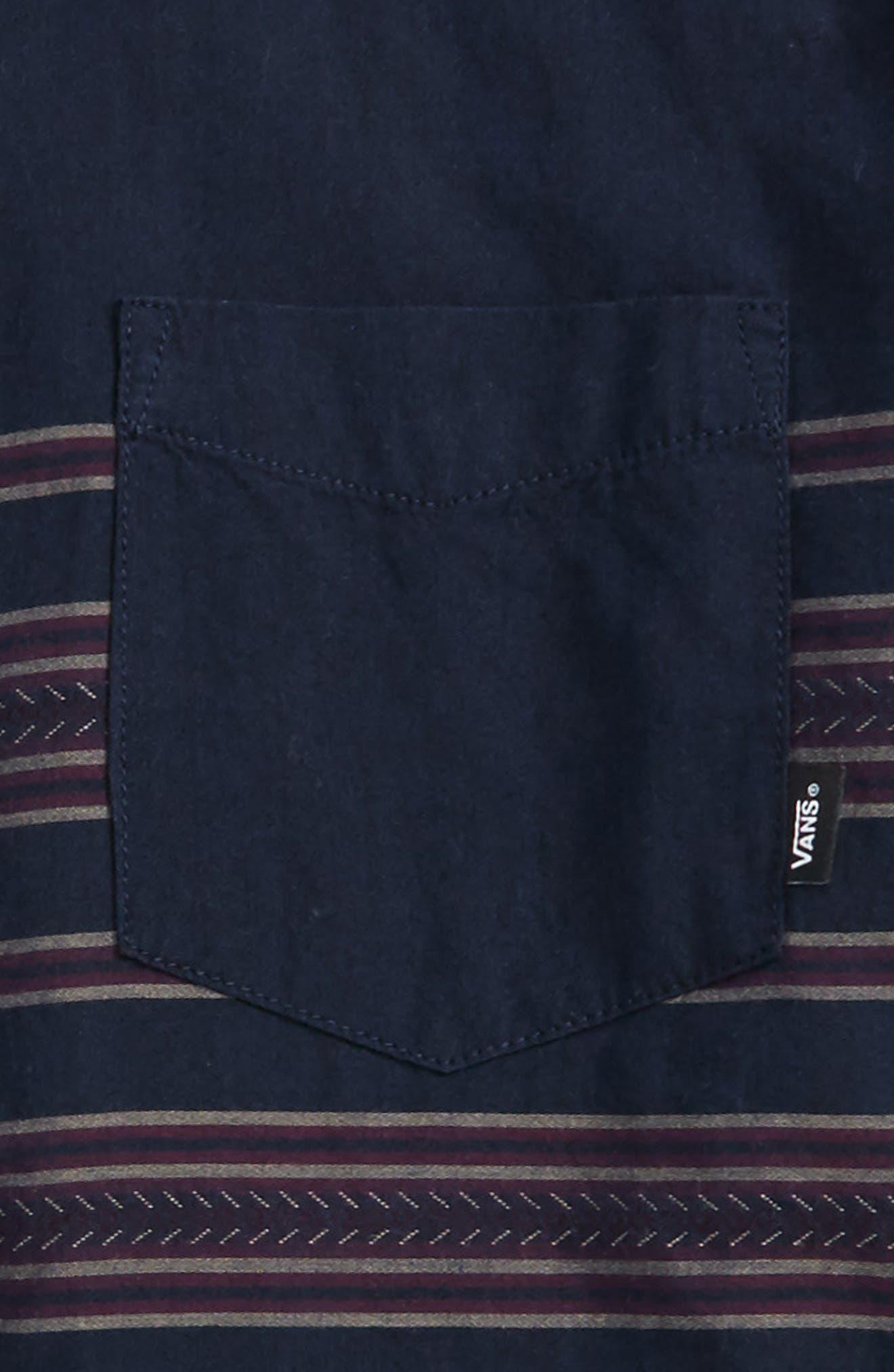 Benmore Woven Shirt,                             Alternate thumbnail 2, color,                             Dress Blues