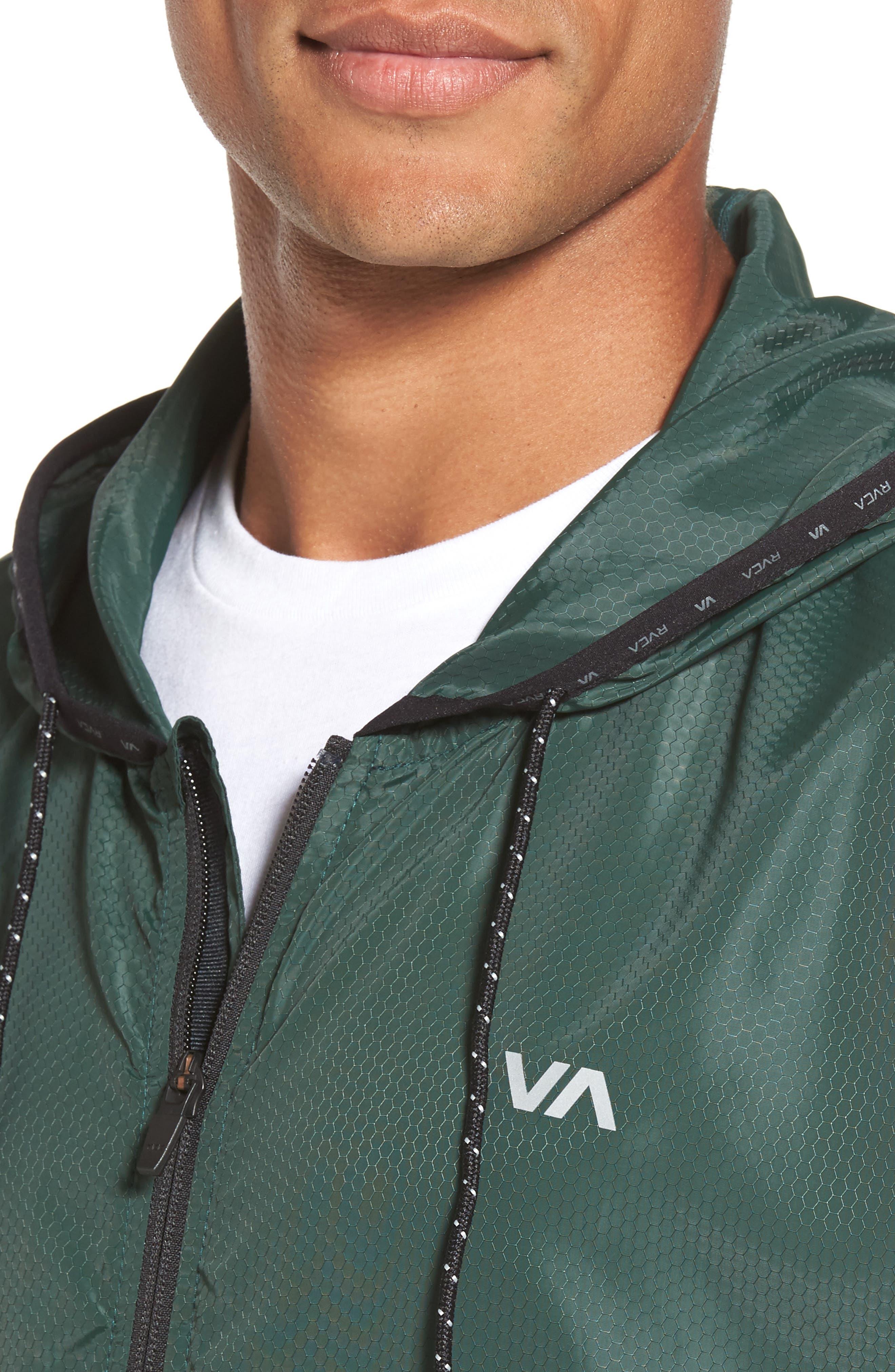 Alternate Image 4  - RVCA Hexstop II Water Repellent Hooded Jacket
